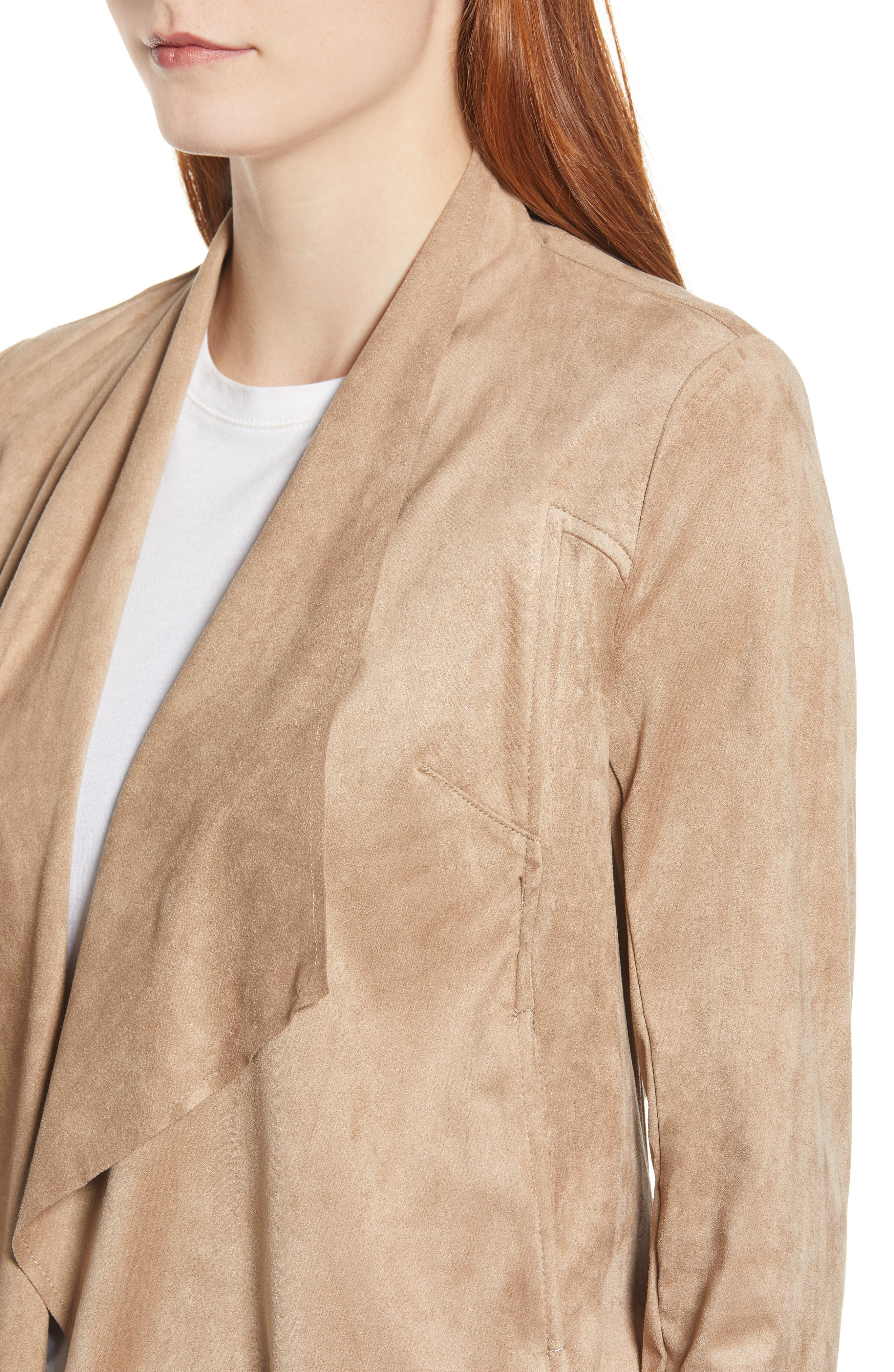 Tayanita Faux Suede Jacket,                             Alternate thumbnail 4, color,                             380