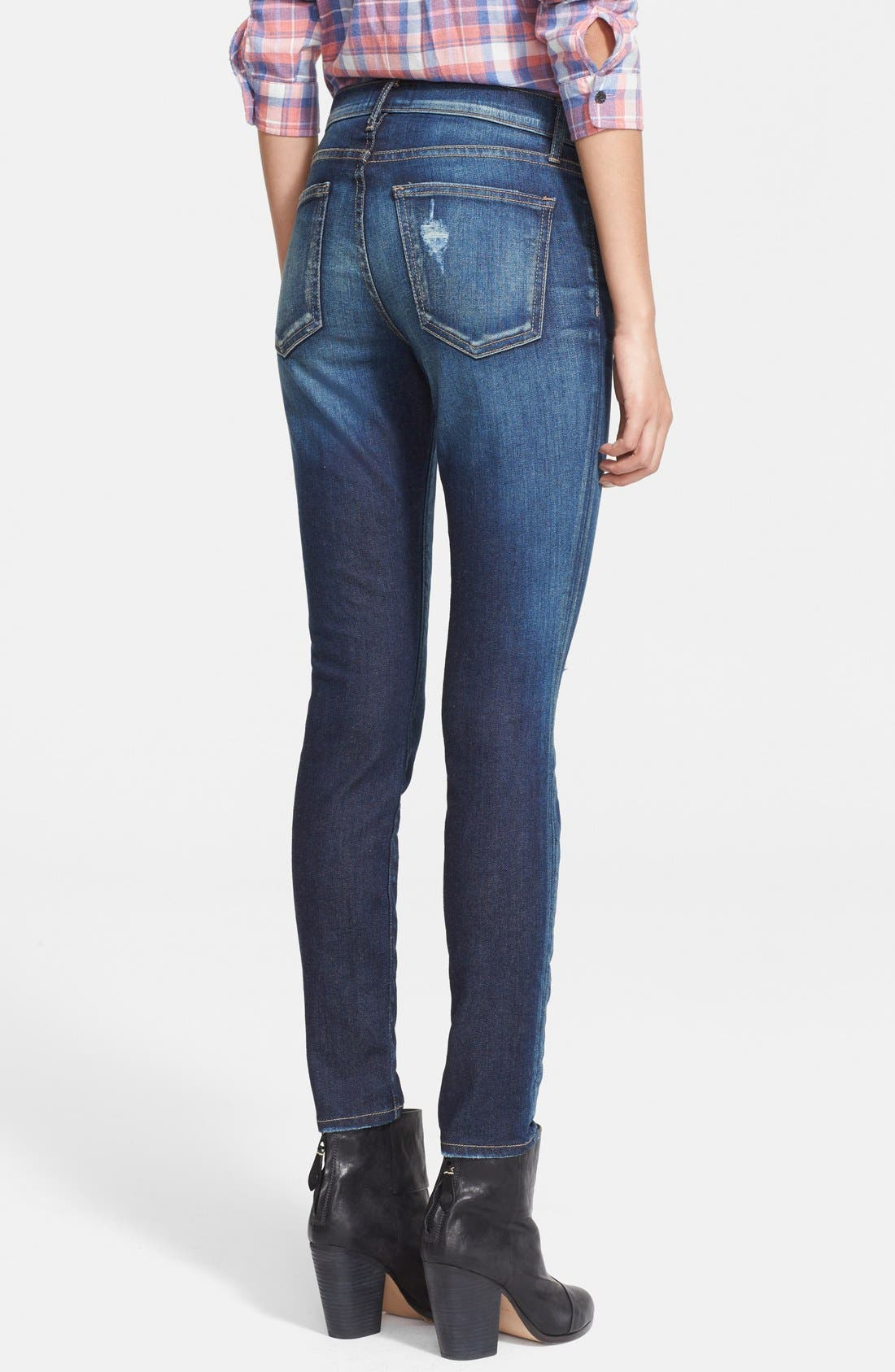 'The Stiletto' Destroyed Skinny Jeans,                             Alternate thumbnail 19, color,