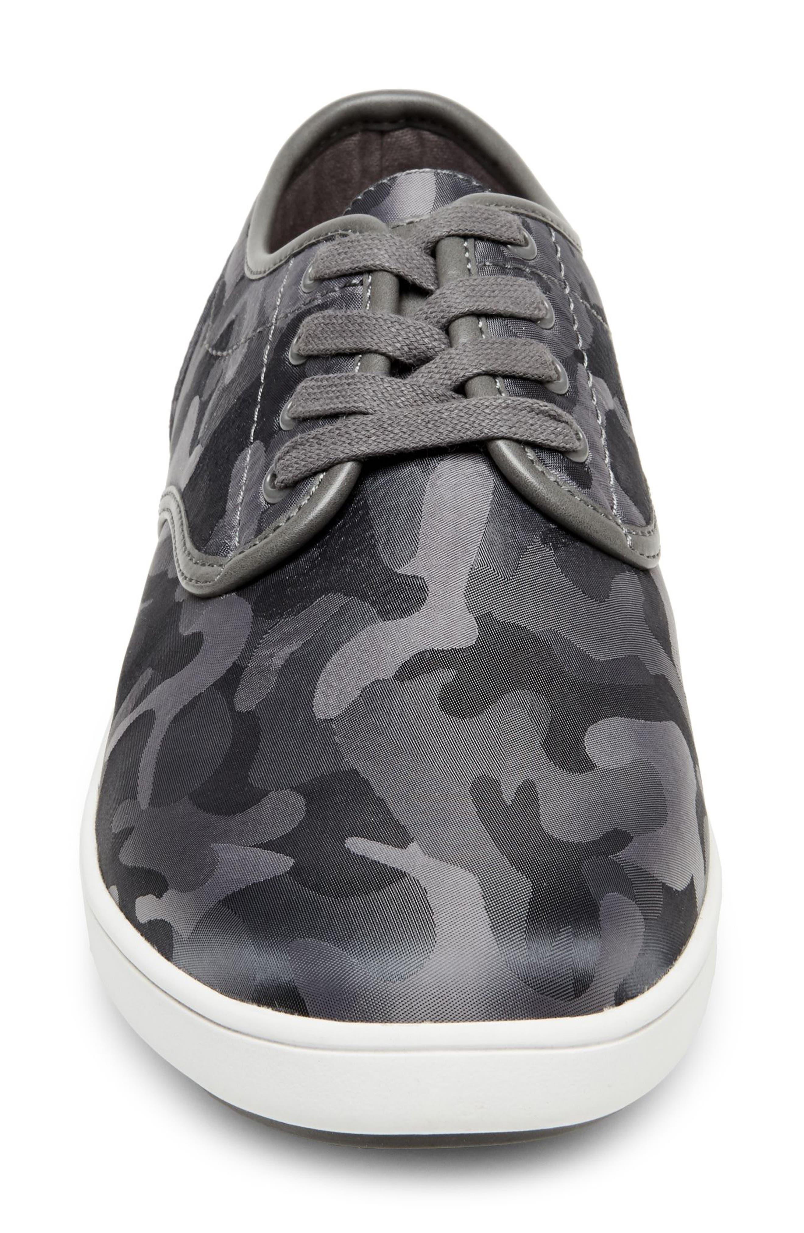 Frenzo Camo Sneaker,                             Alternate thumbnail 4, color,                             GREY CAMO FABRIC