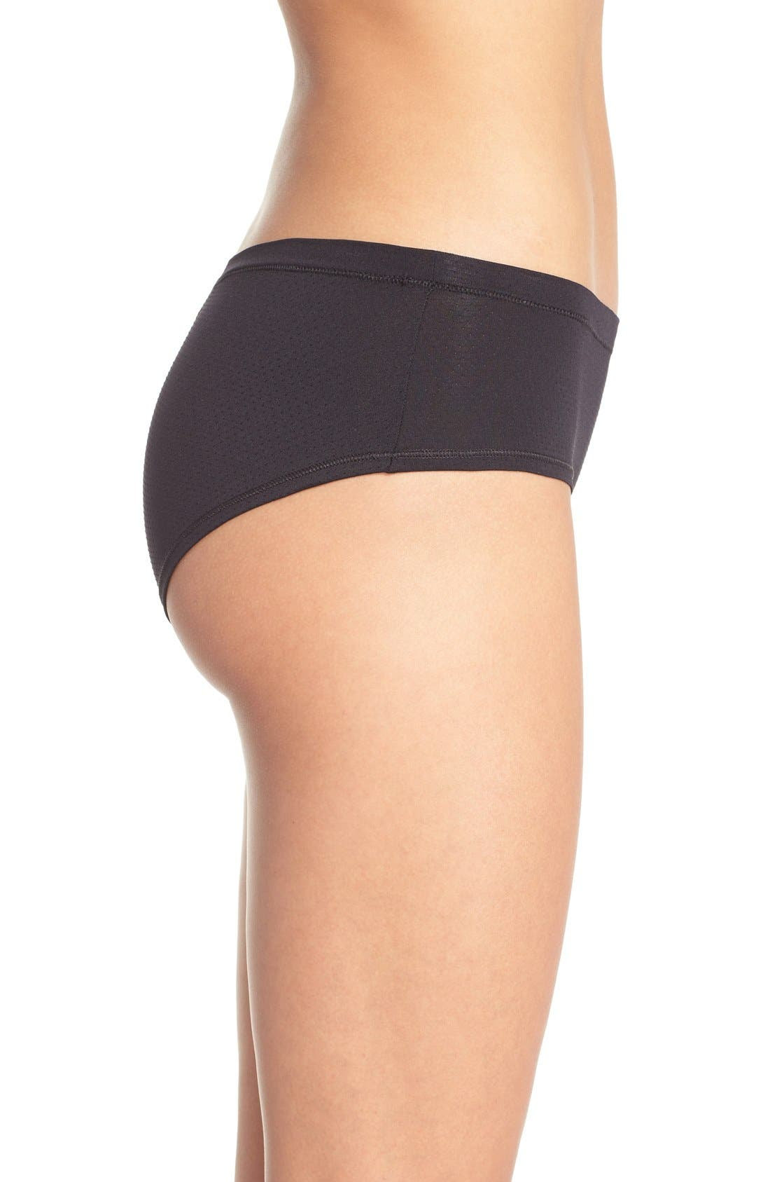 Active Mesh Hipster Briefs,                             Alternate thumbnail 3, color,                             BLACK