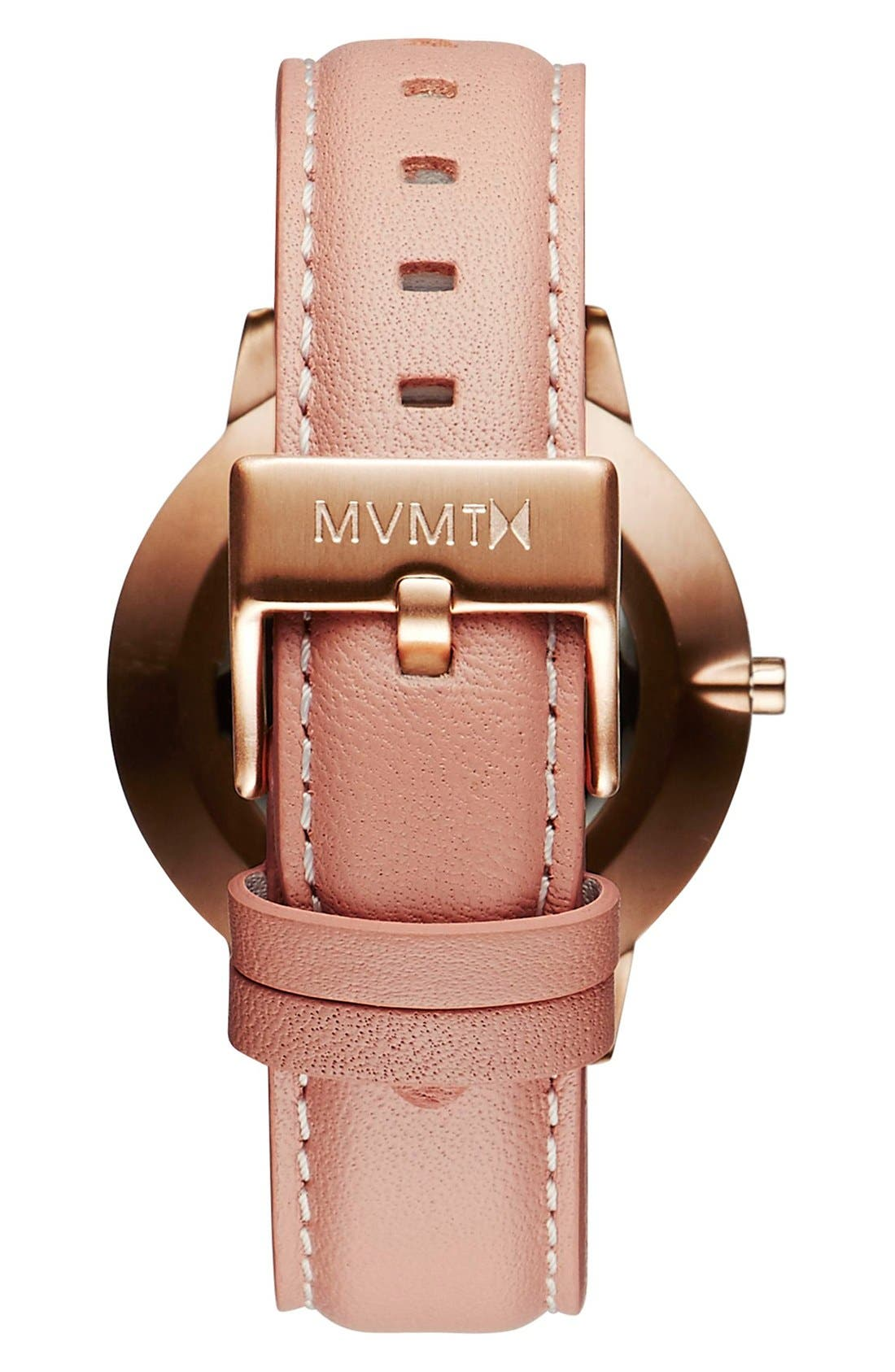 Boulevard Leather Strap Watch, 38mm,                             Alternate thumbnail 2, color,                             PEACH/ WHITE/ ROSE GOLD