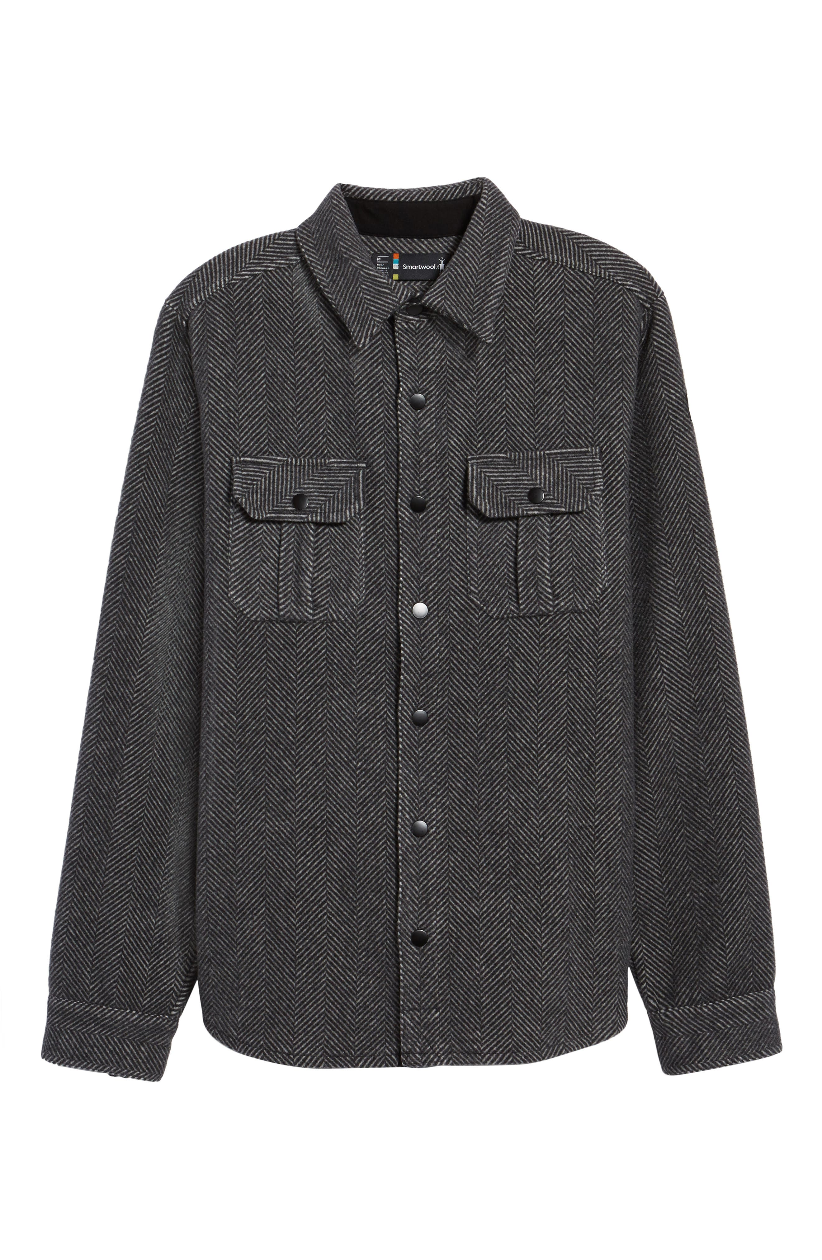 Anchor Line Herringbone Wool Blend Shirt Jacket,                             Alternate thumbnail 5, color,