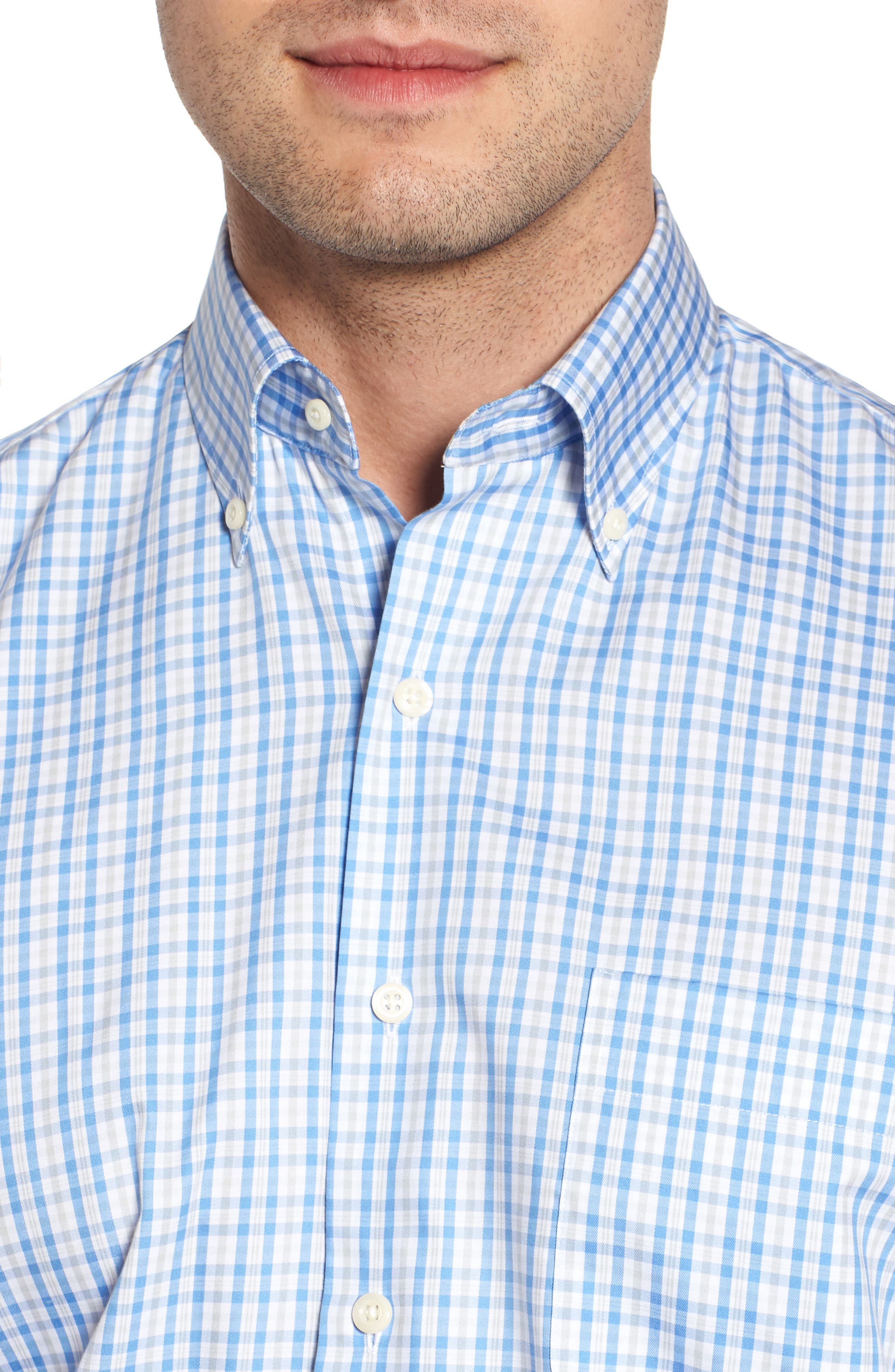 PETER MILLAR,                             Crown Soft First Hill Plaid Sport Shirt,                             Alternate thumbnail 4, color,                             485