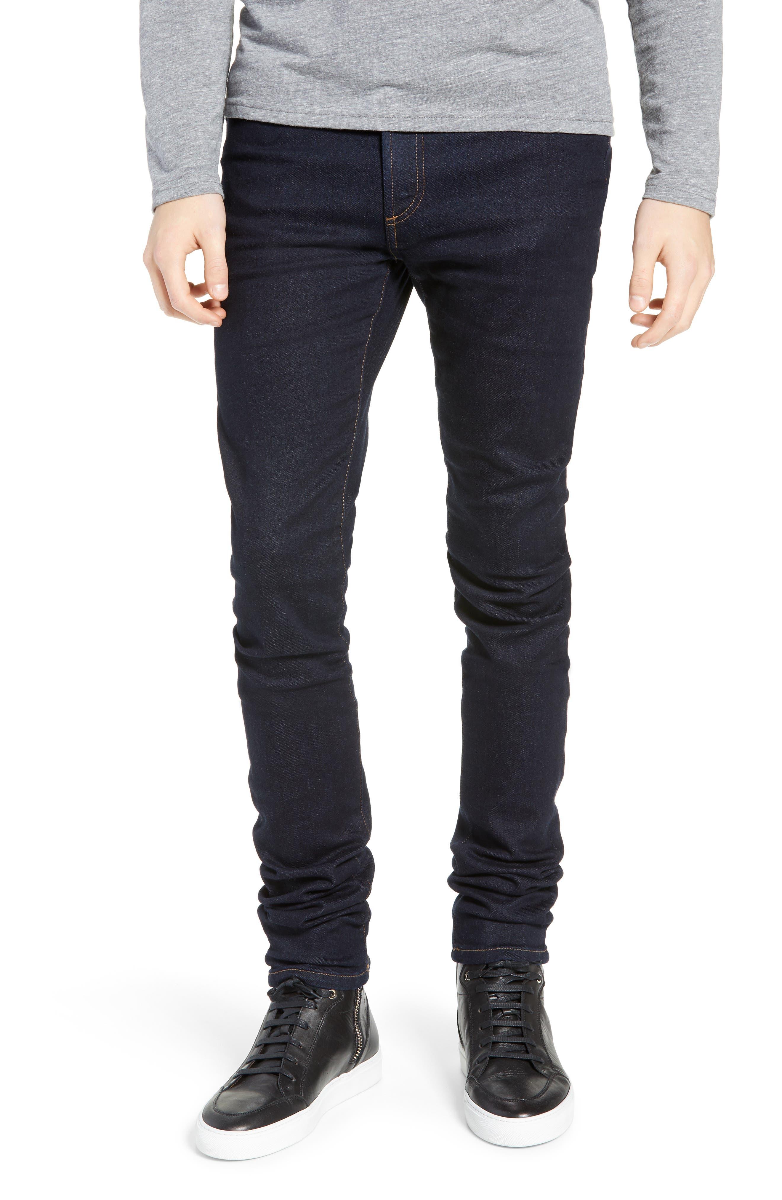 MONFRERE Greyson Skinny Fit Jeans in Indigo