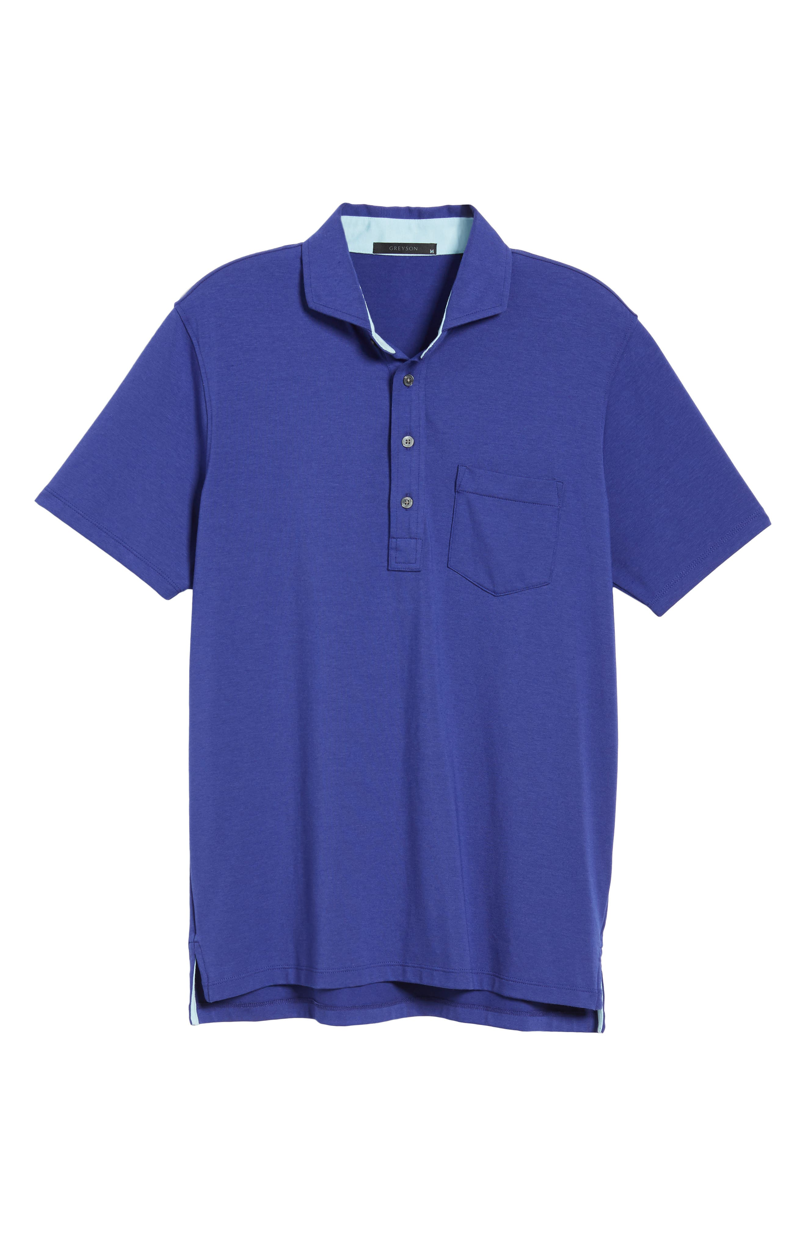 Jersey Polo,                             Alternate thumbnail 6, color,                             TWILIGHT