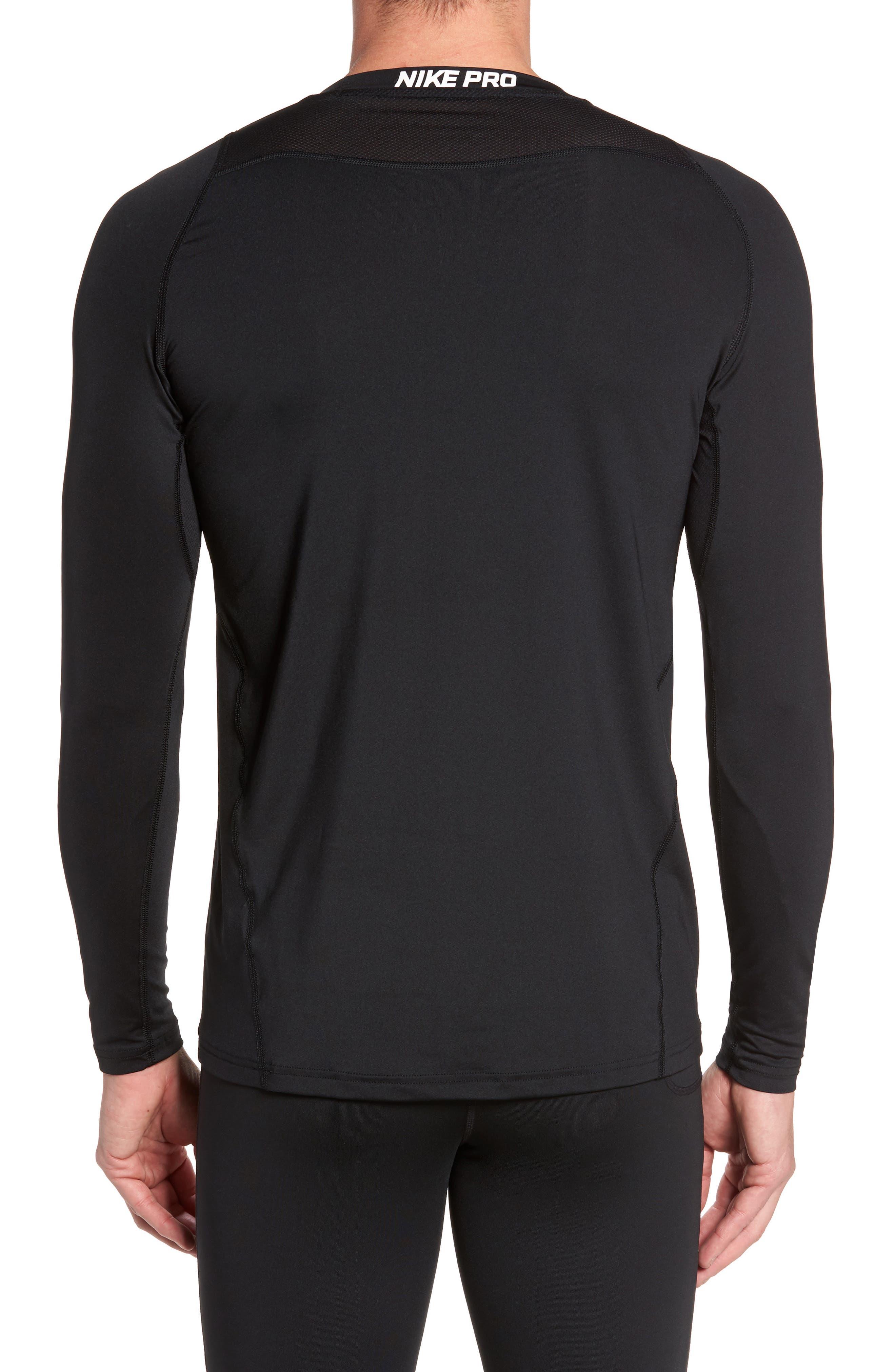 Pro Fitted Performance T-Shirt,                             Alternate thumbnail 2, color,                             BLACK/ WHITE/ WHITE