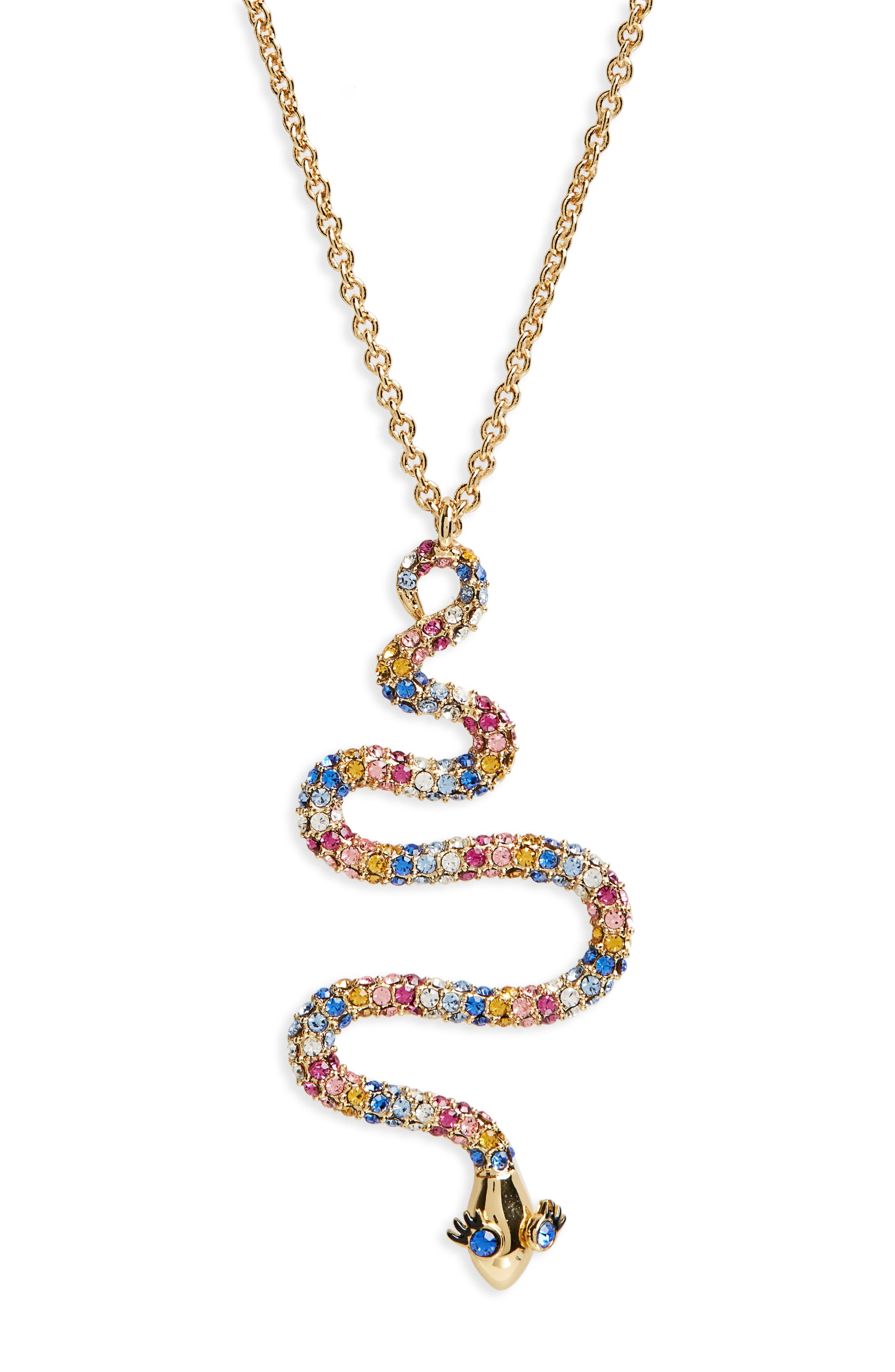 spice things up snake pendant necklace,                         Main,                         color, 710