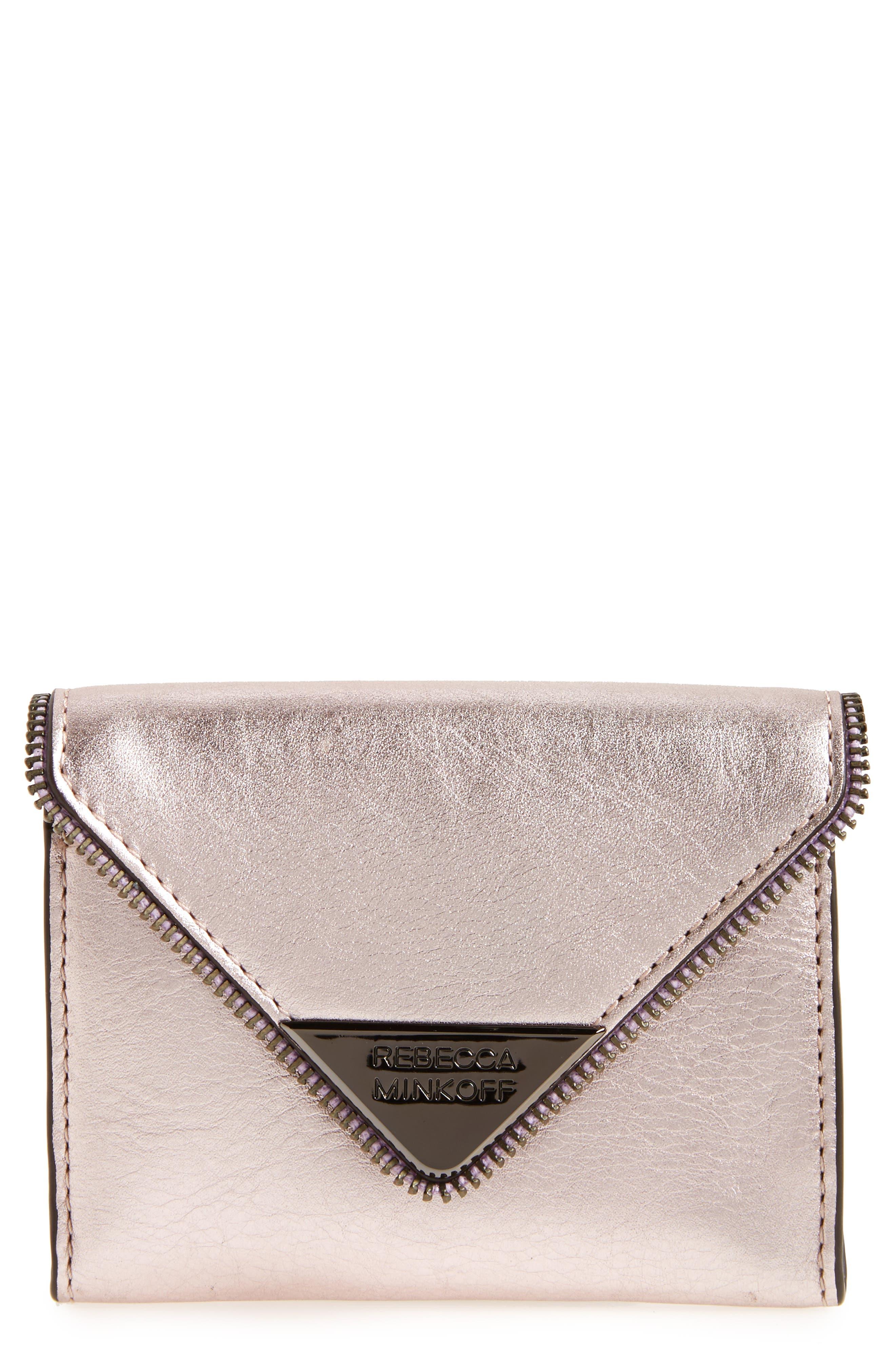 Molly Metro Metallic Leather Wallet,                             Main thumbnail 2, color,