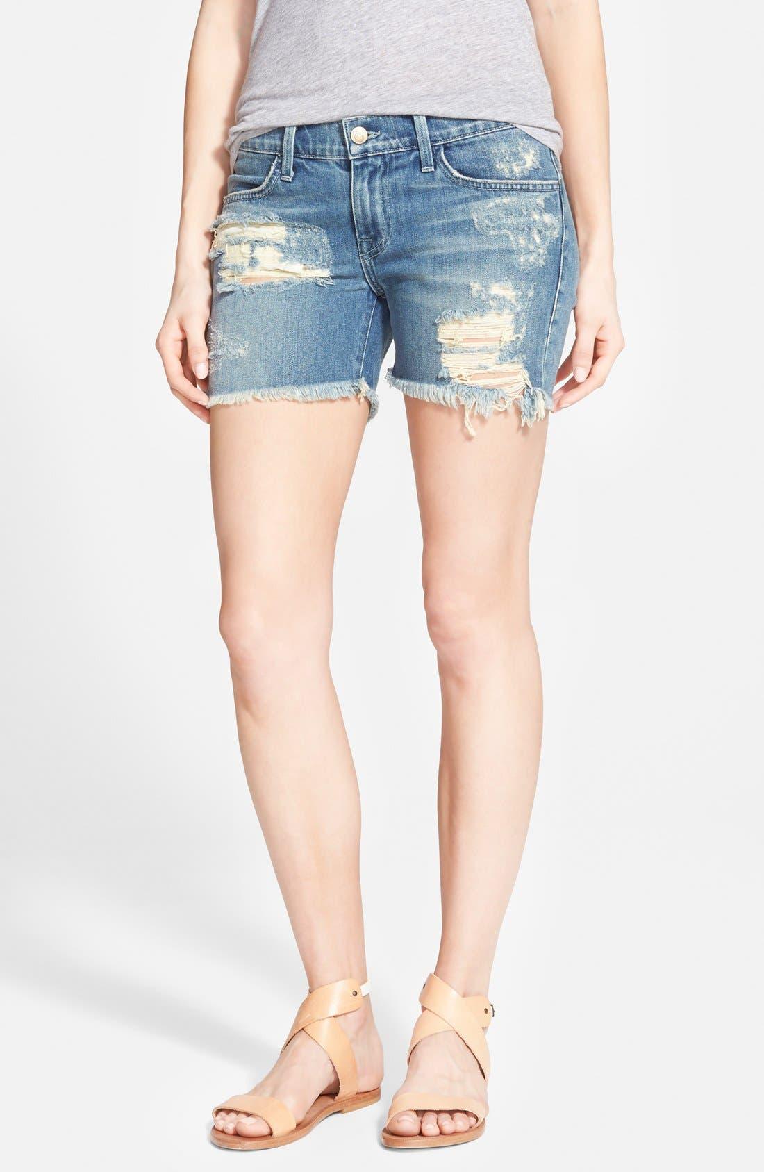 'Sawyer' Cutoff Denim Shorts, Main, color, 400