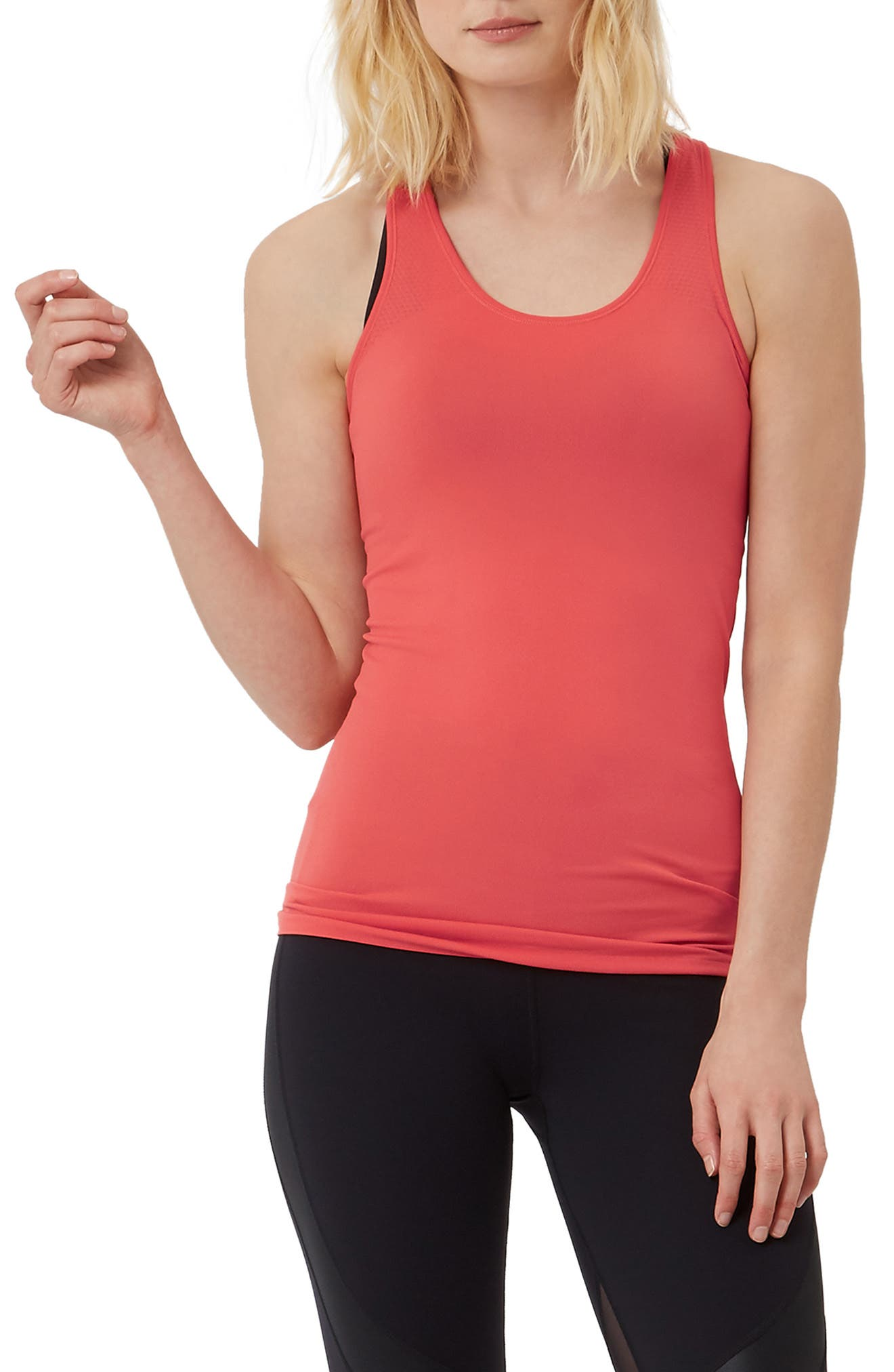 Athlete Seamless Workout Tank,                         Main,                         color, REBEL RED