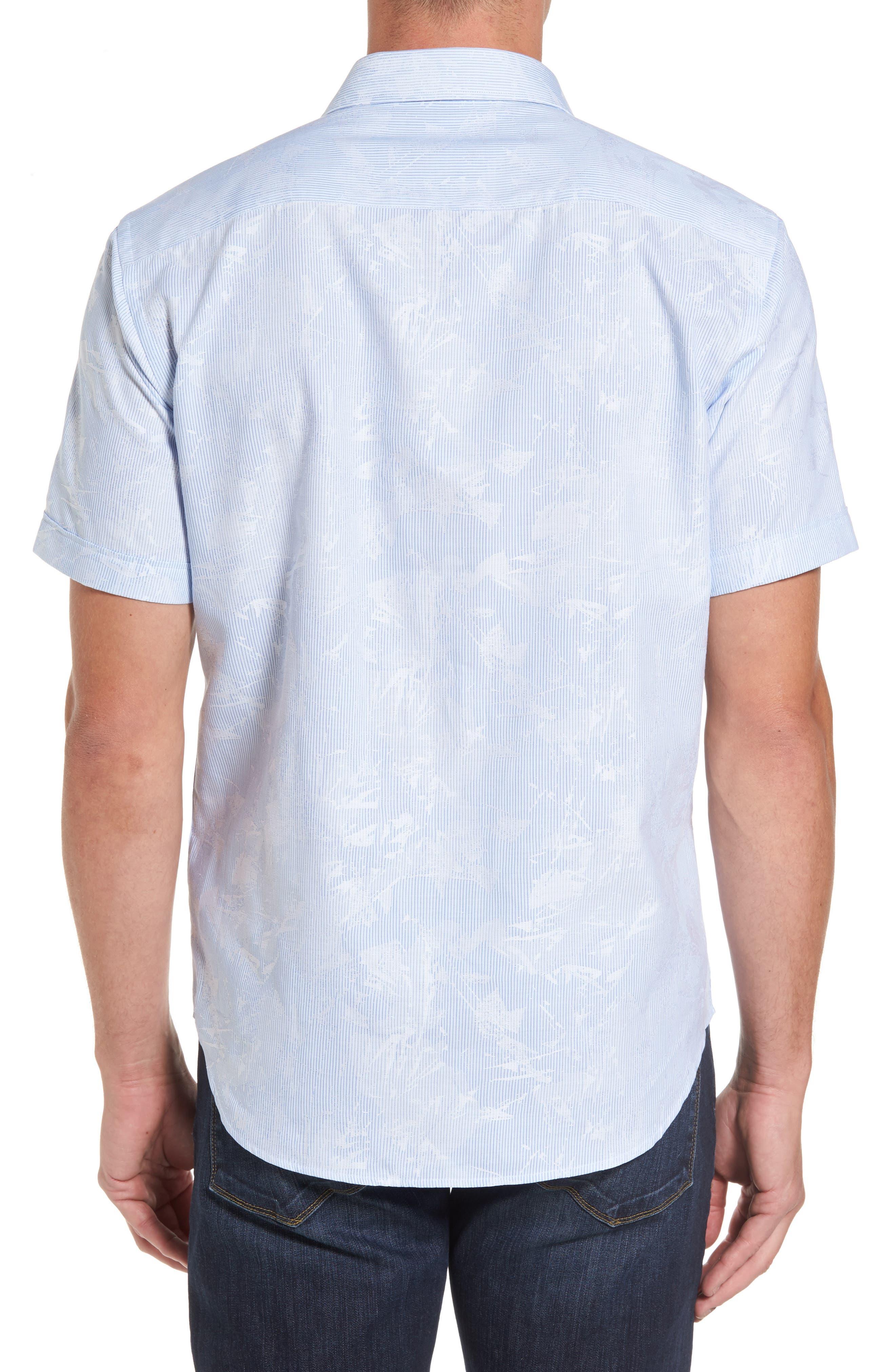 Shaped Fit Jacquard Stripe Sport Shirt,                             Alternate thumbnail 2, color,                             459