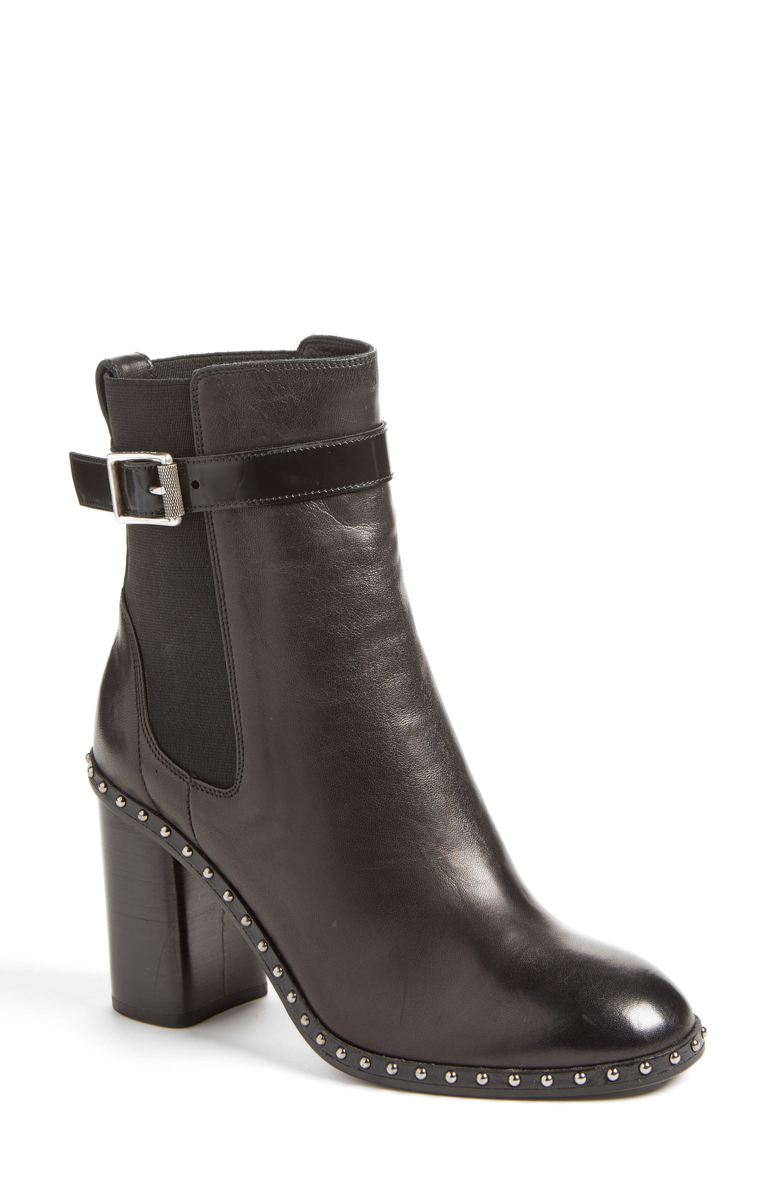 Romi Studded Chelsea Bootie,                             Main thumbnail 1, color,                             001