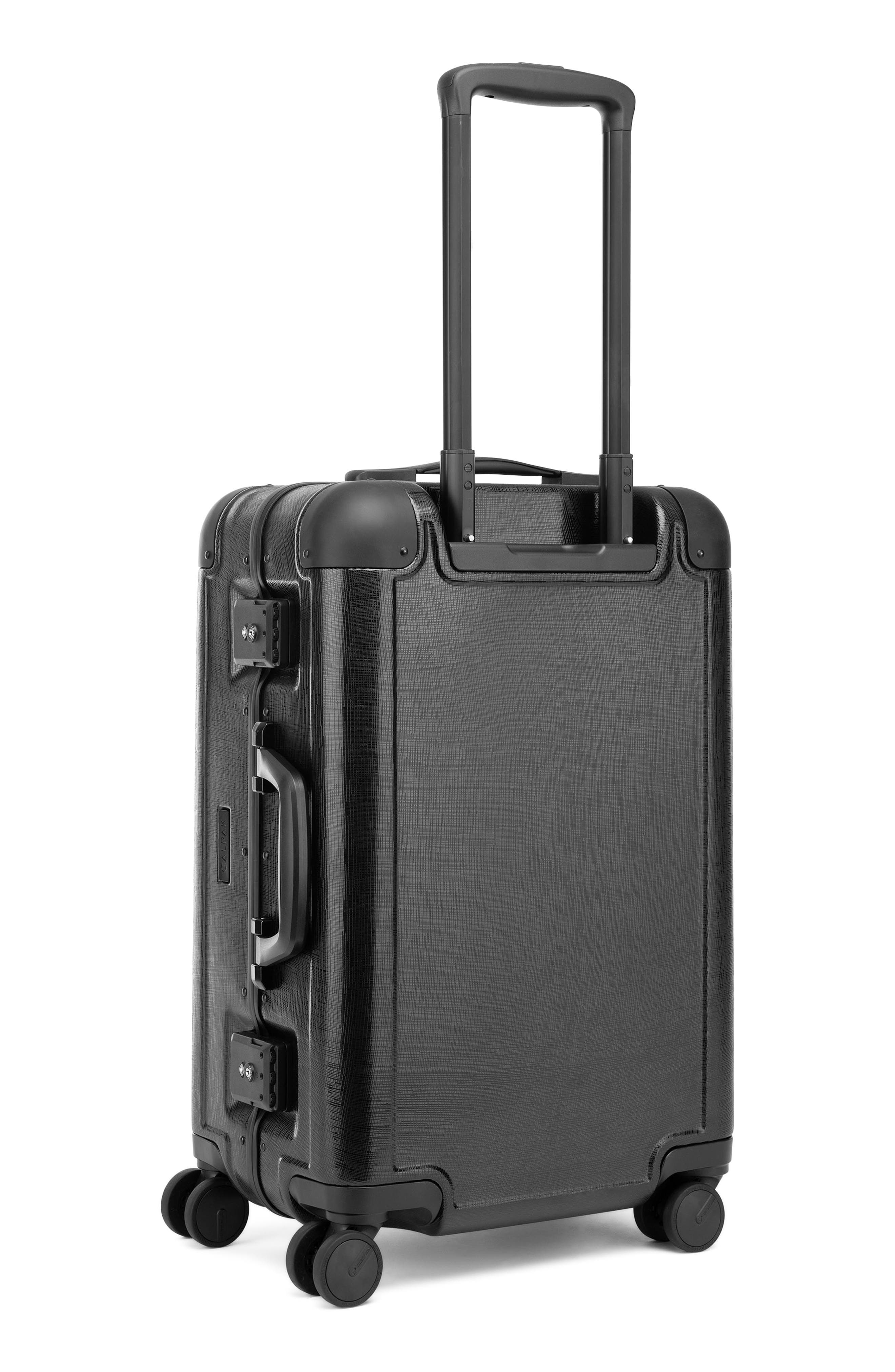 x Jen Atkin 22-Inch Carry-On Suitcase,                             Alternate thumbnail 4, color,                             BLACK