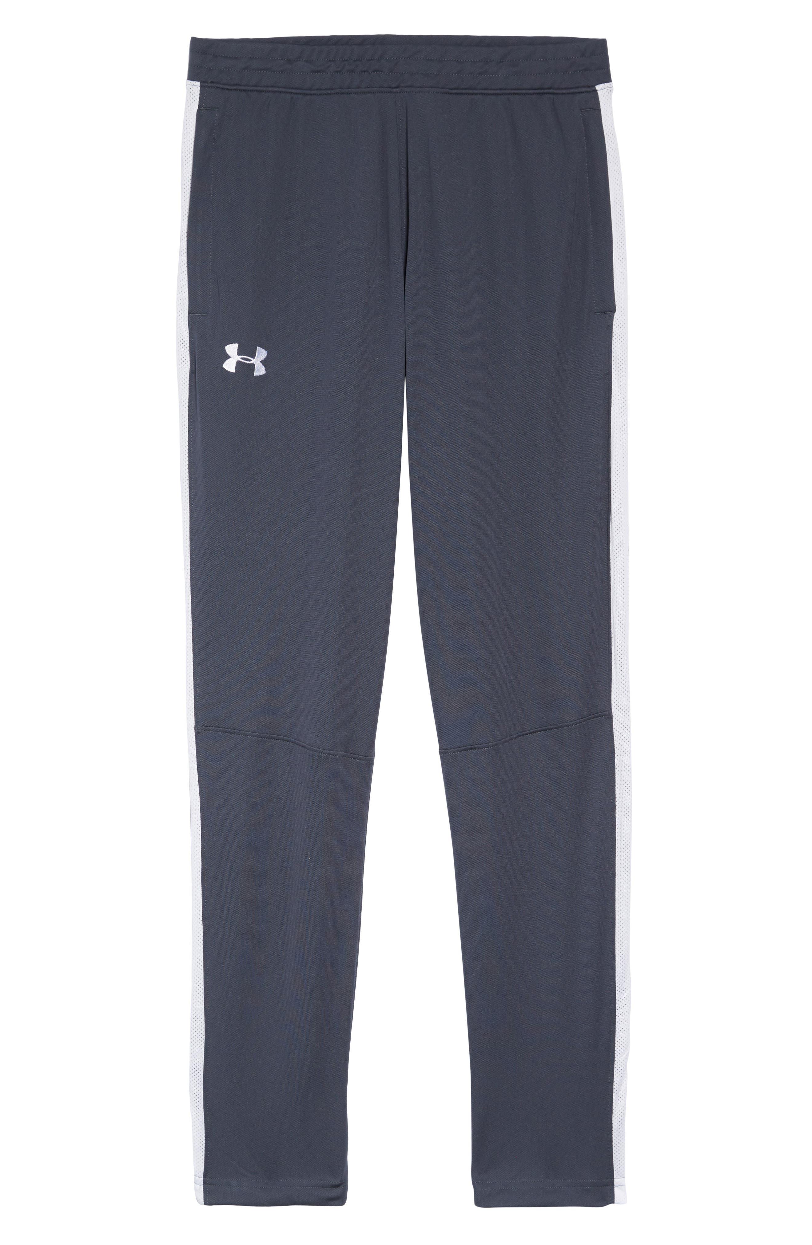 Sportstyle Slim Piqué Track Pants,                             Alternate thumbnail 6, color,                             STEALTH GRAY / / WHITE
