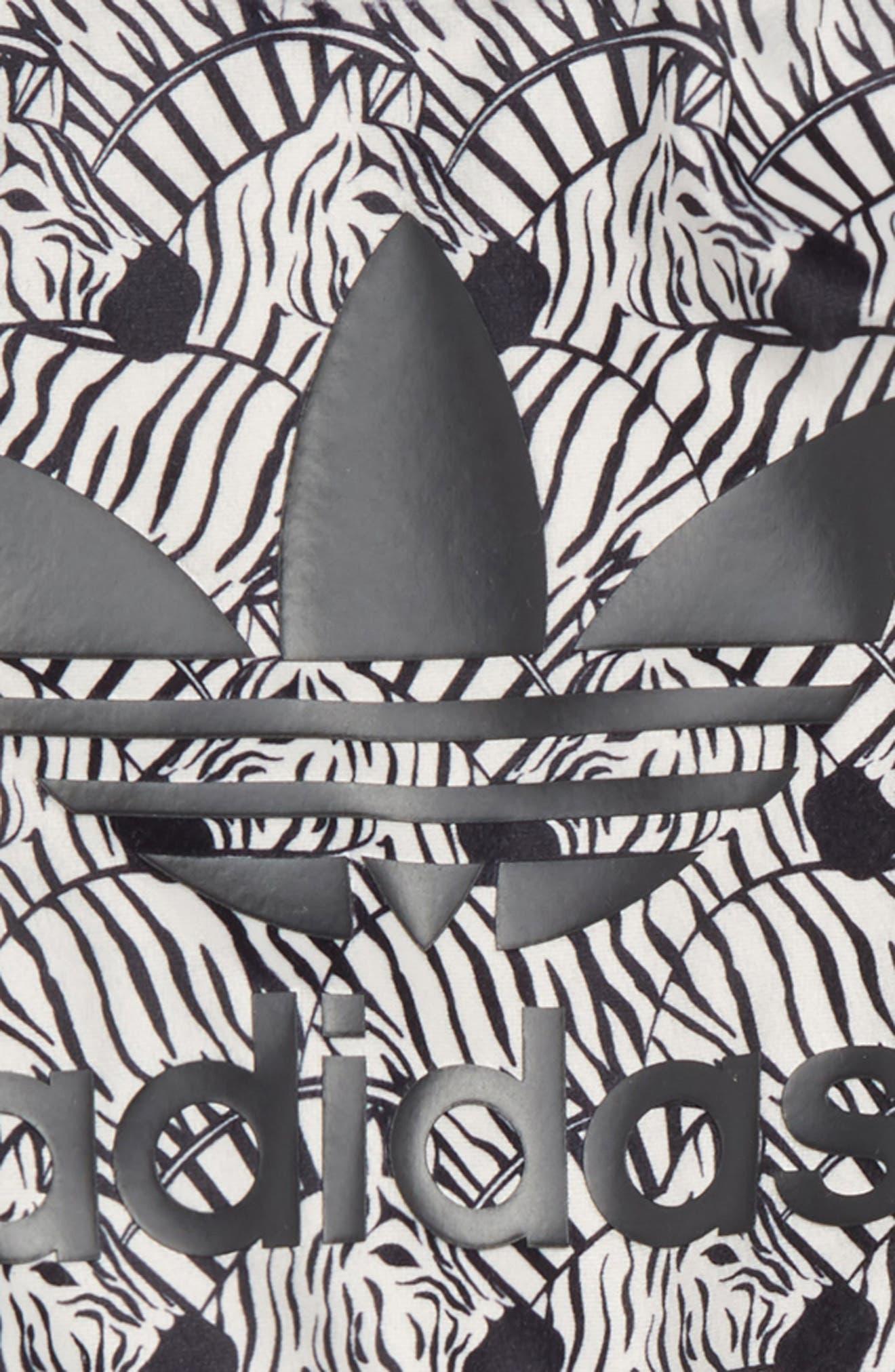 Zebra Sweatshirt & Velvet Pants Set,                             Alternate thumbnail 2, color,                             BROWN/BLACK