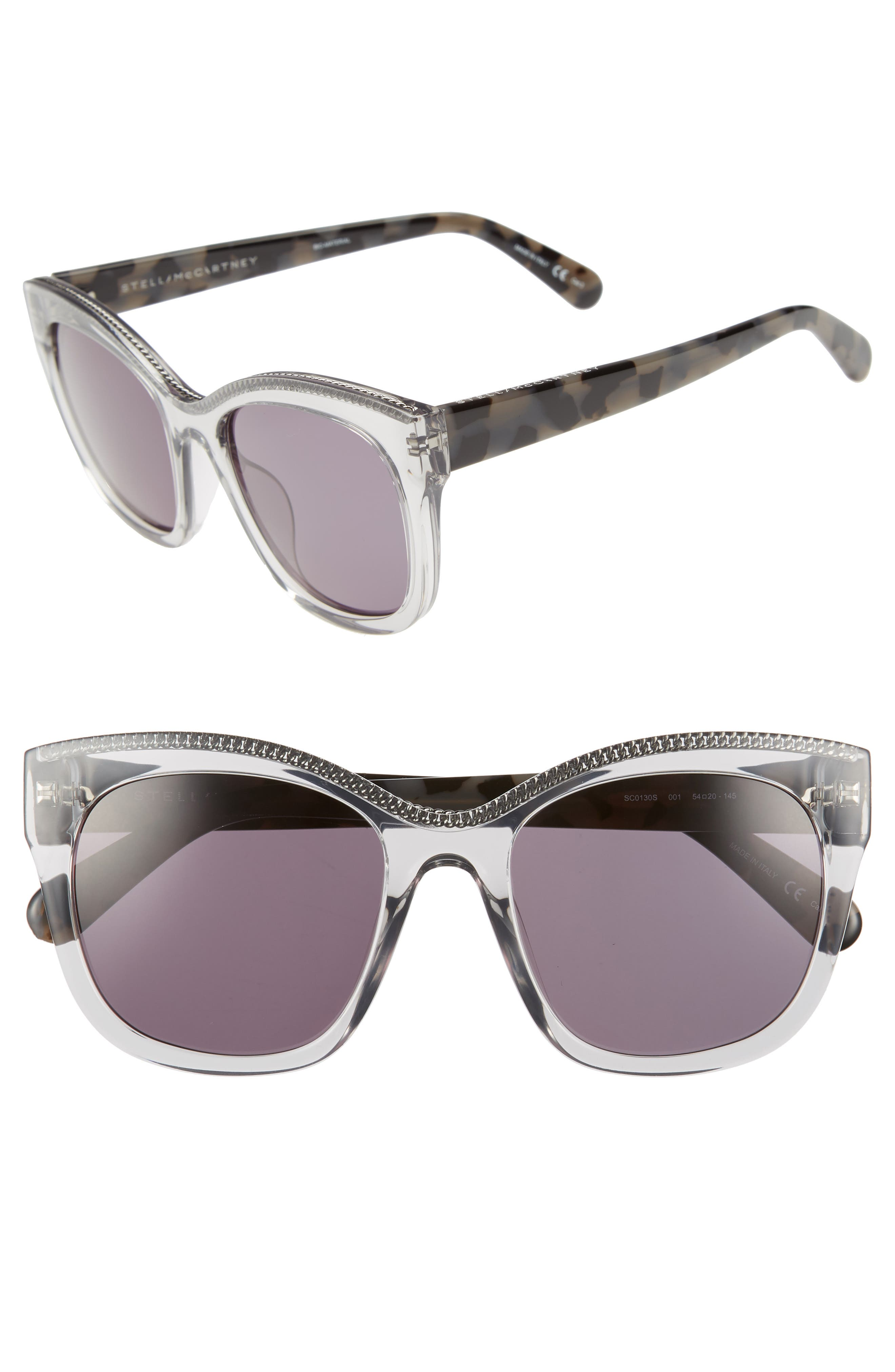 54mm Sunglasses,                             Main thumbnail 1, color,                             GREY HAVANA