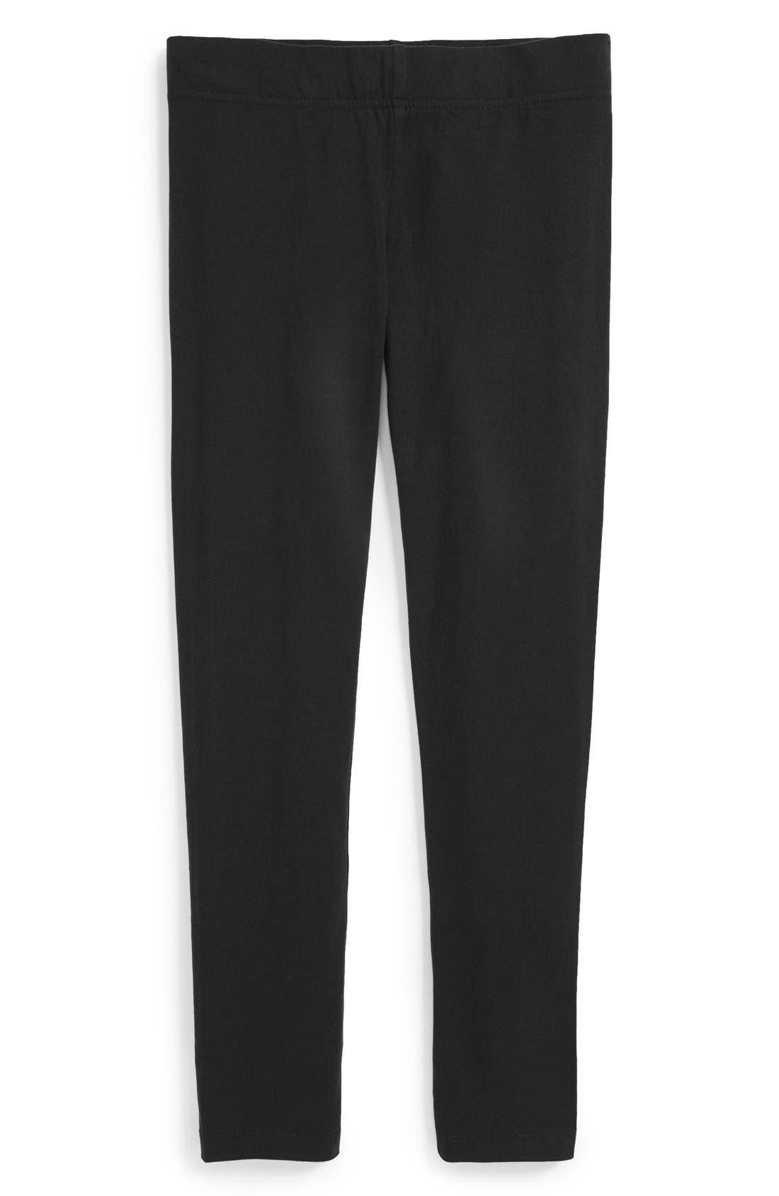 'Core' Leggings,                         Main,                         color, NEW BLACK