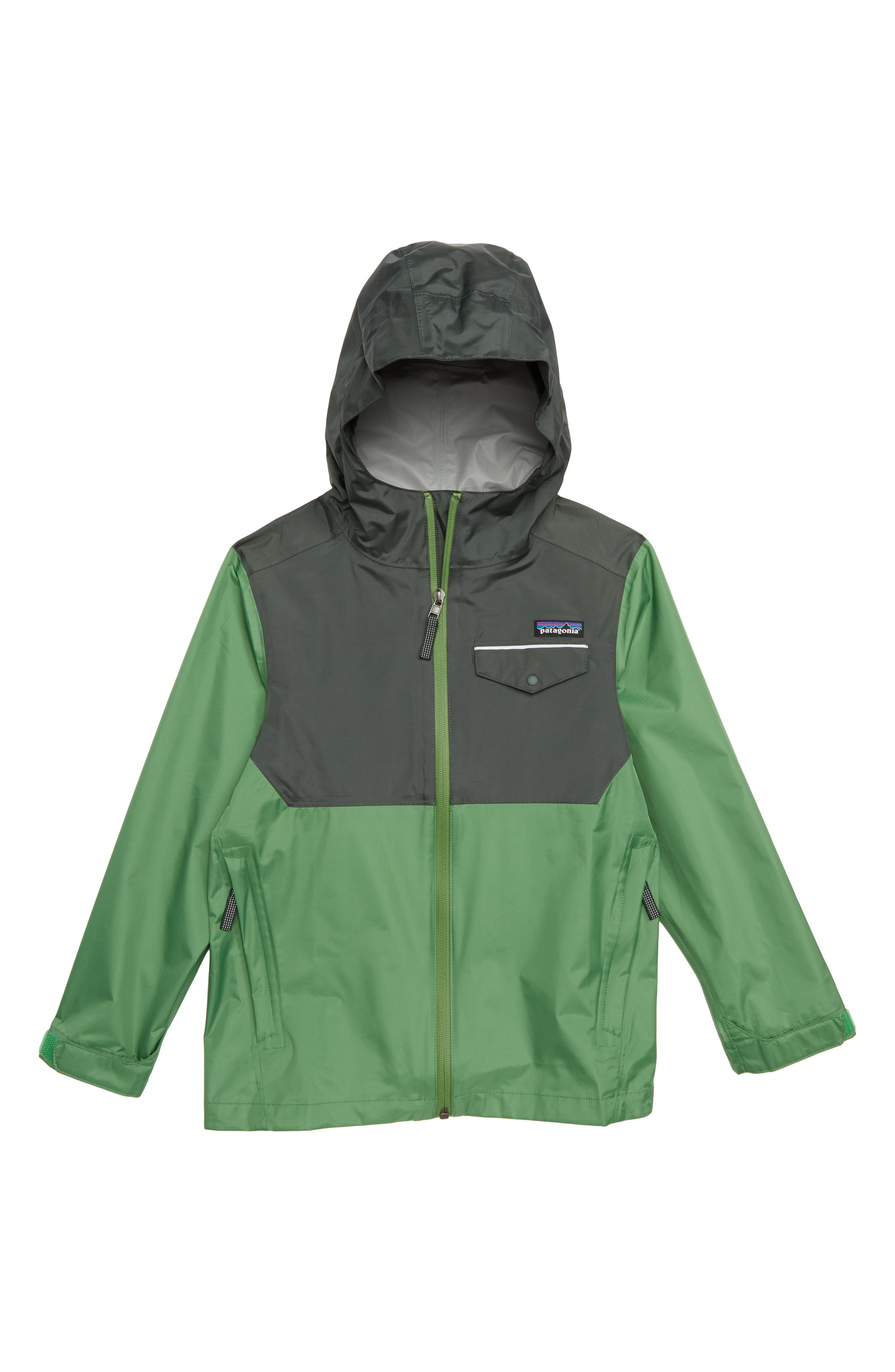 Torrentshell Hooded Rain Jacket,                             Main thumbnail 1, color,                             SUCCULENT GREEN