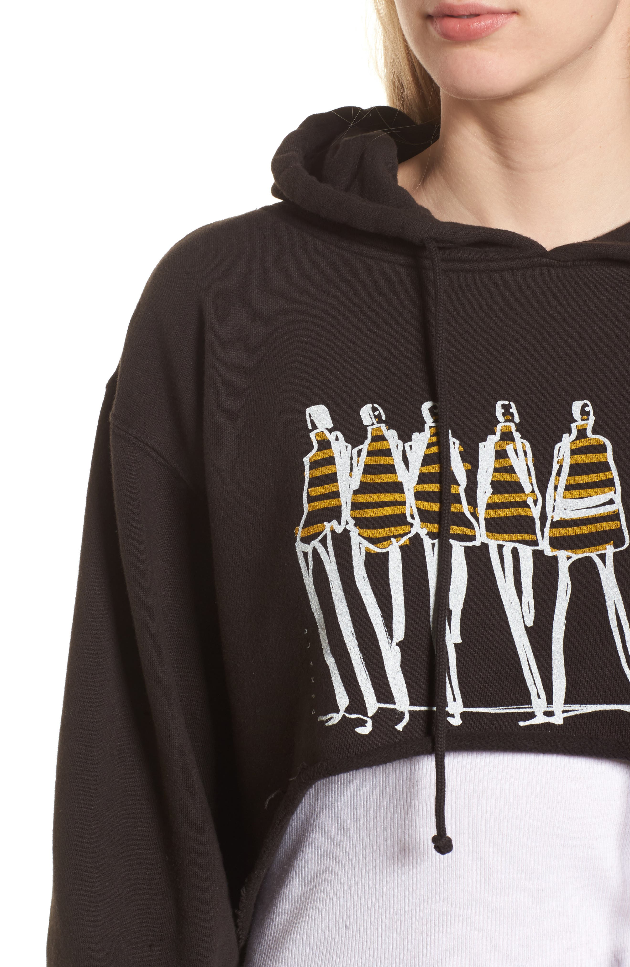 x Donald Robertson Stripe Dresses High/Low Hoodie,                             Alternate thumbnail 4, color,