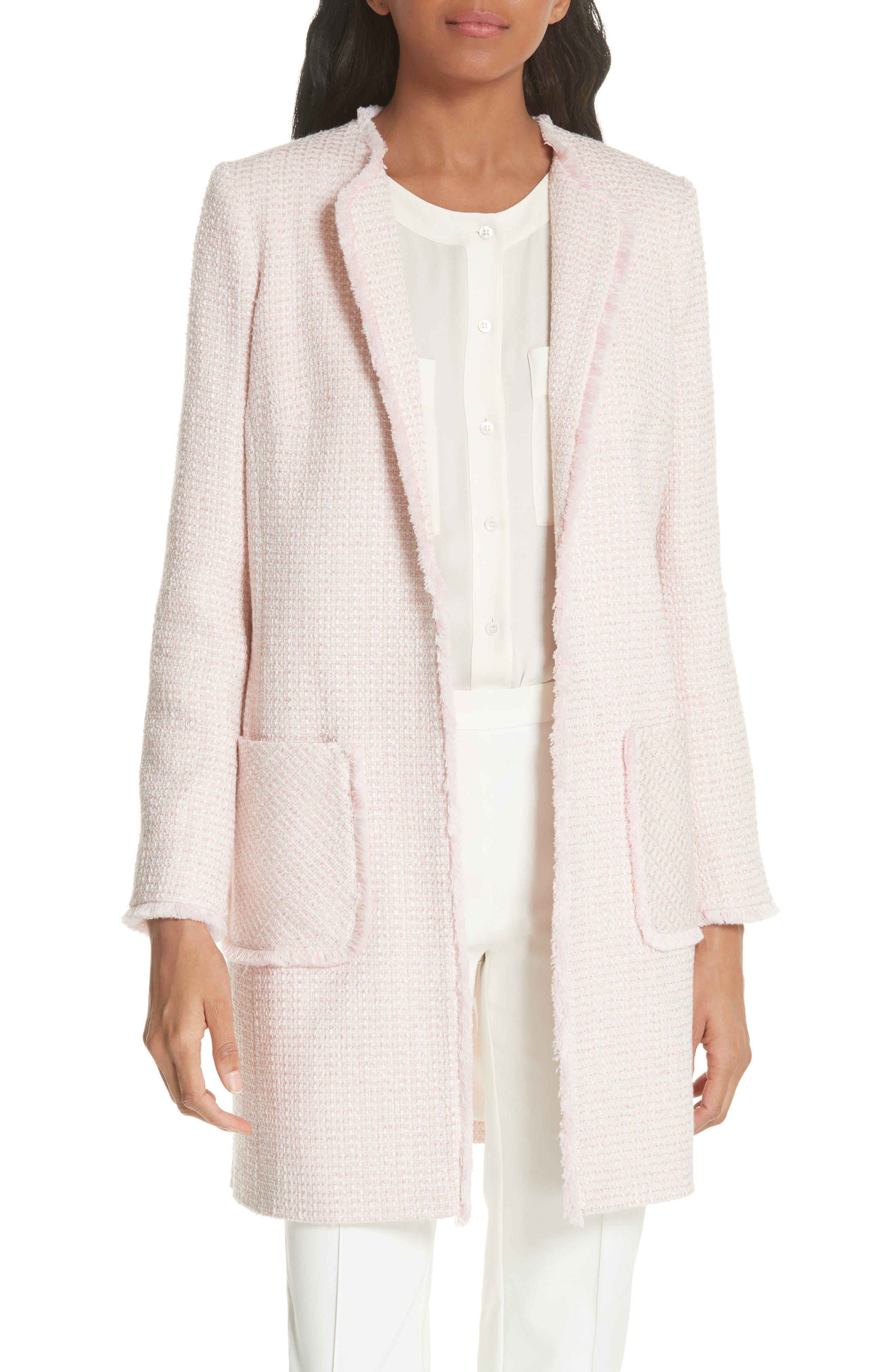 HELENE BERMAN Tweed Topper in Pink