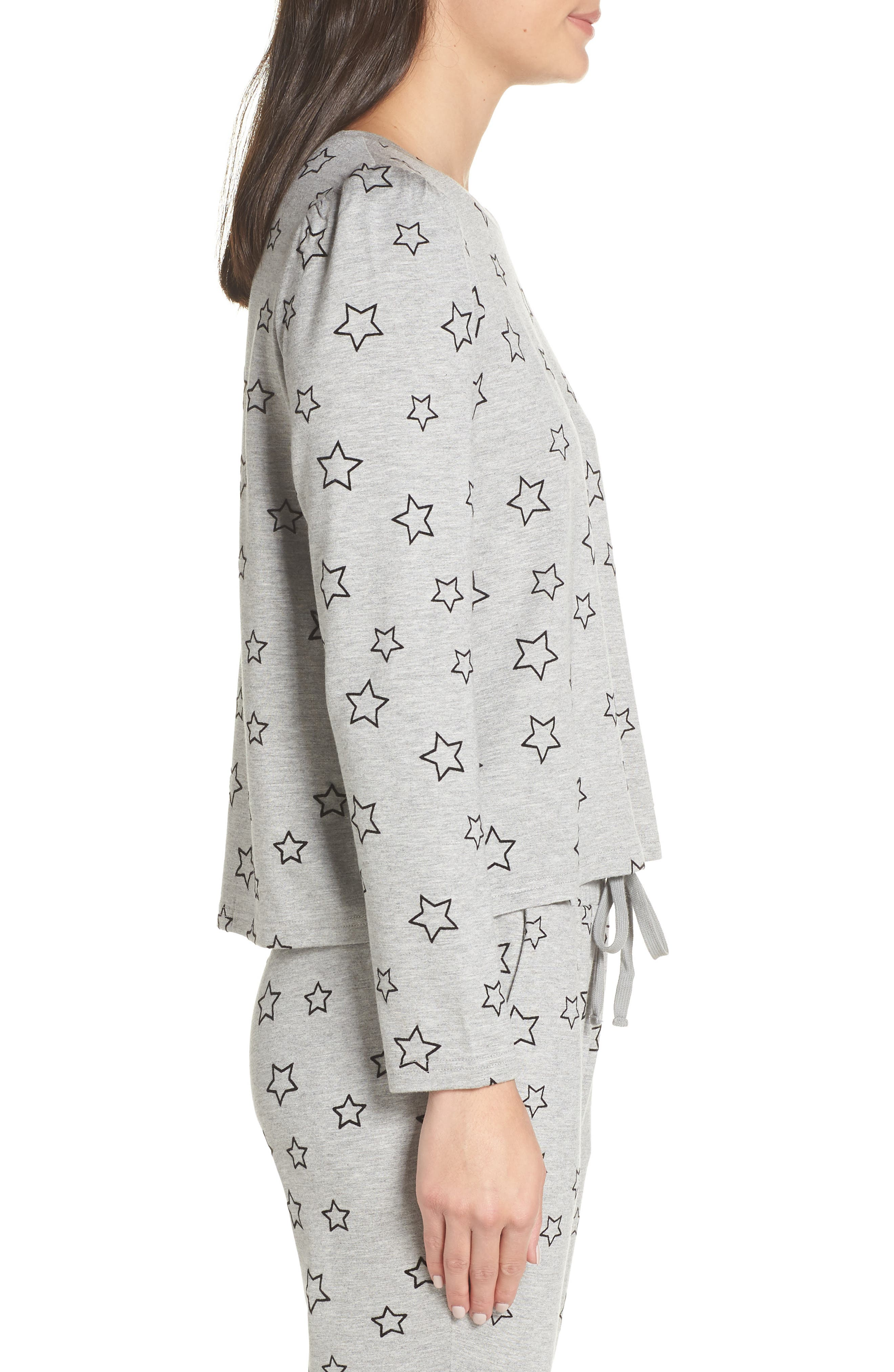 Seeing Stars Top,                             Alternate thumbnail 3, color,                             HEATHER GREY