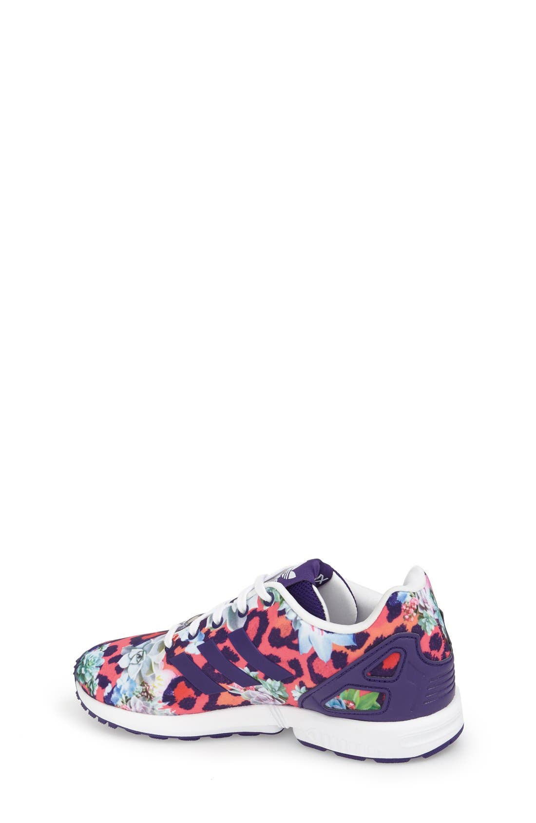 'ZX Flux EL' Print Running Shoe,                             Alternate thumbnail 2, color,                             500
