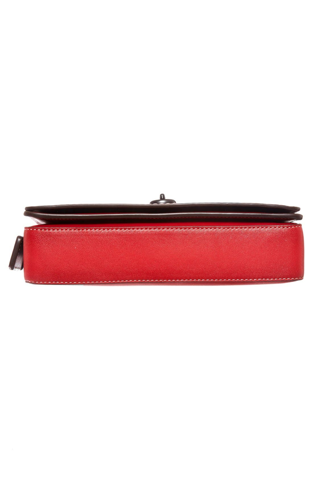 'Dinky' Leather Crossbody Bag,                             Alternate thumbnail 6, color,