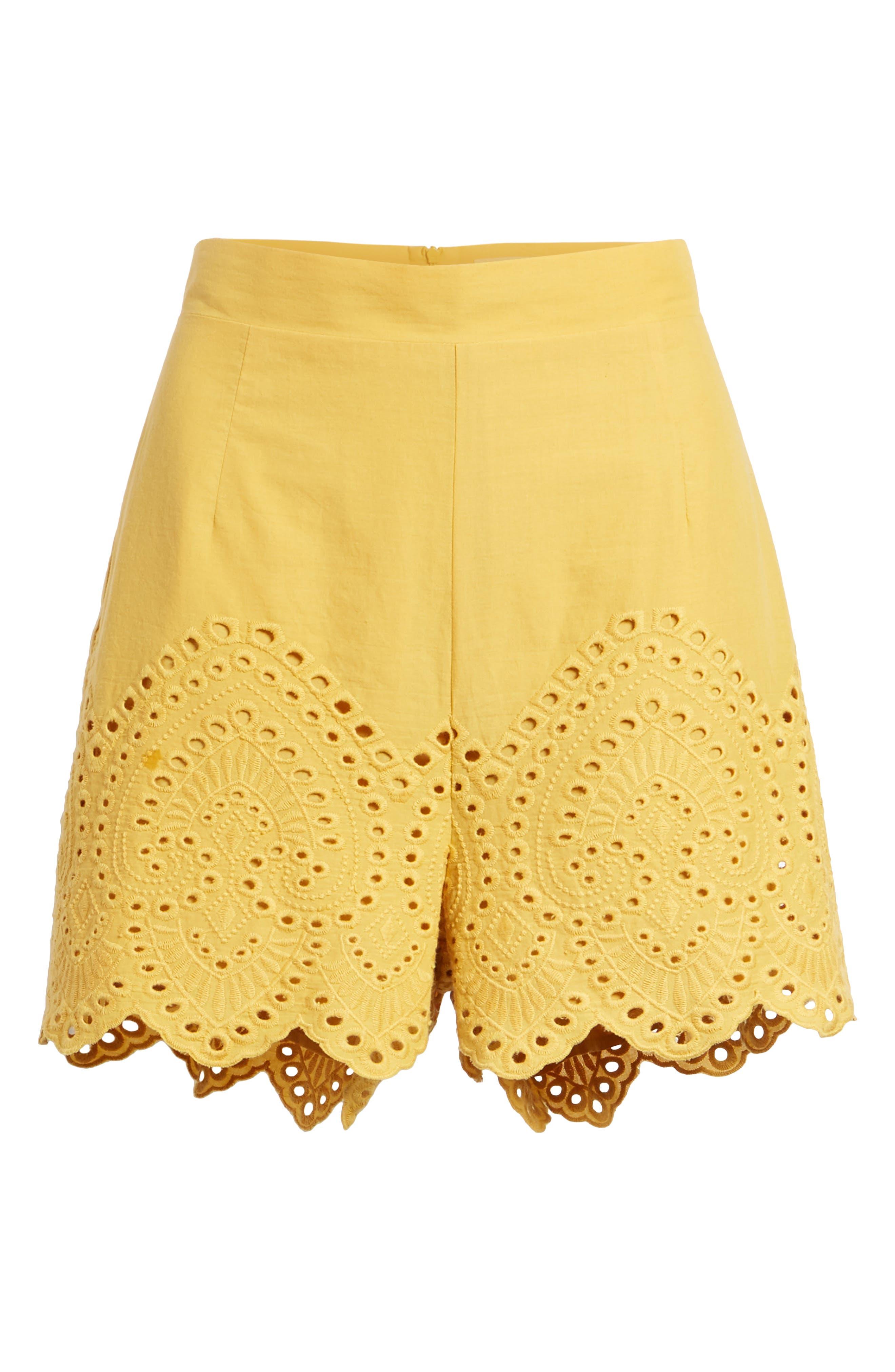 Eyelet Shorts,                             Alternate thumbnail 6, color,