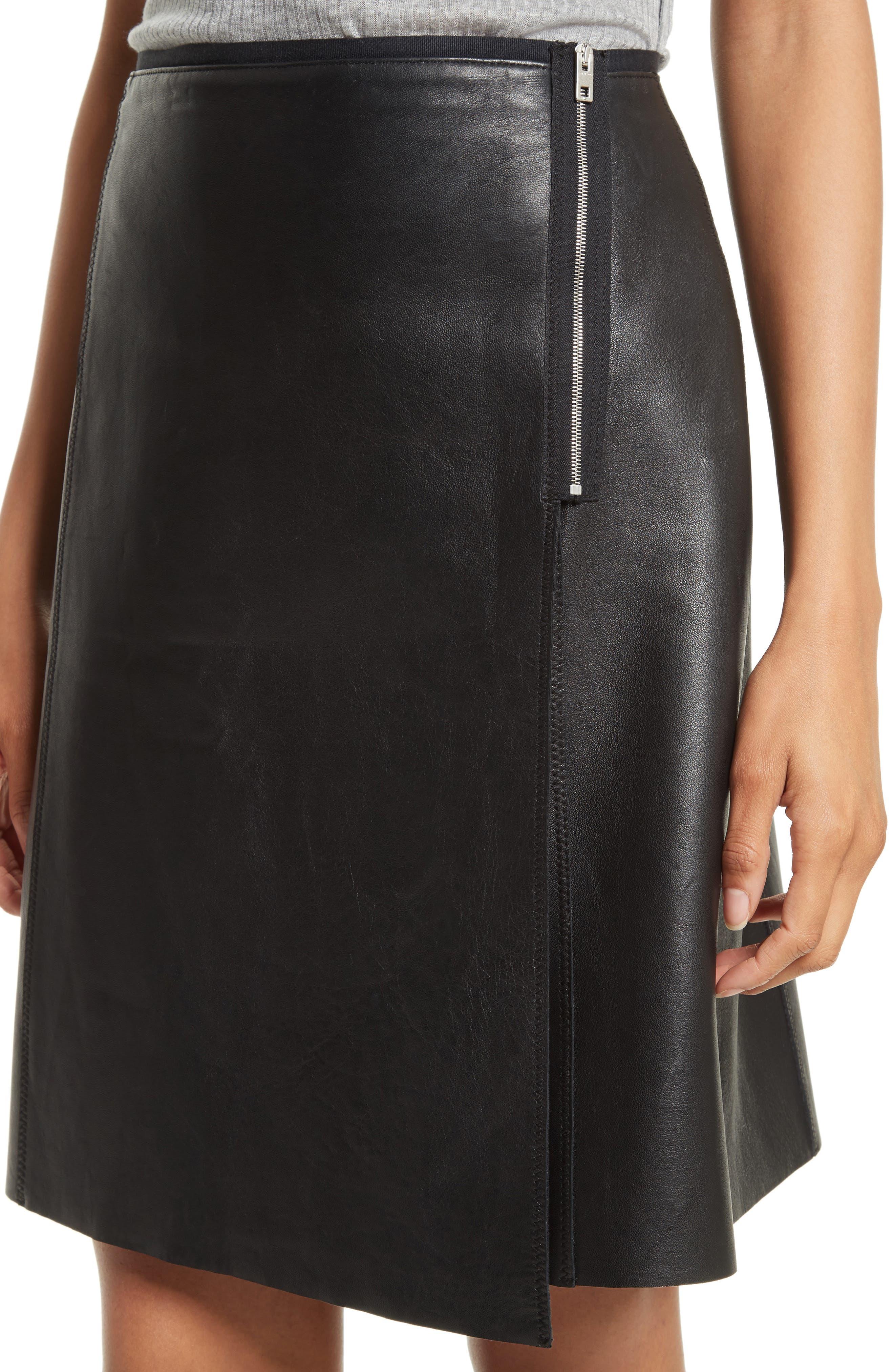 Lloyd Leather Skirt,                             Alternate thumbnail 4, color,