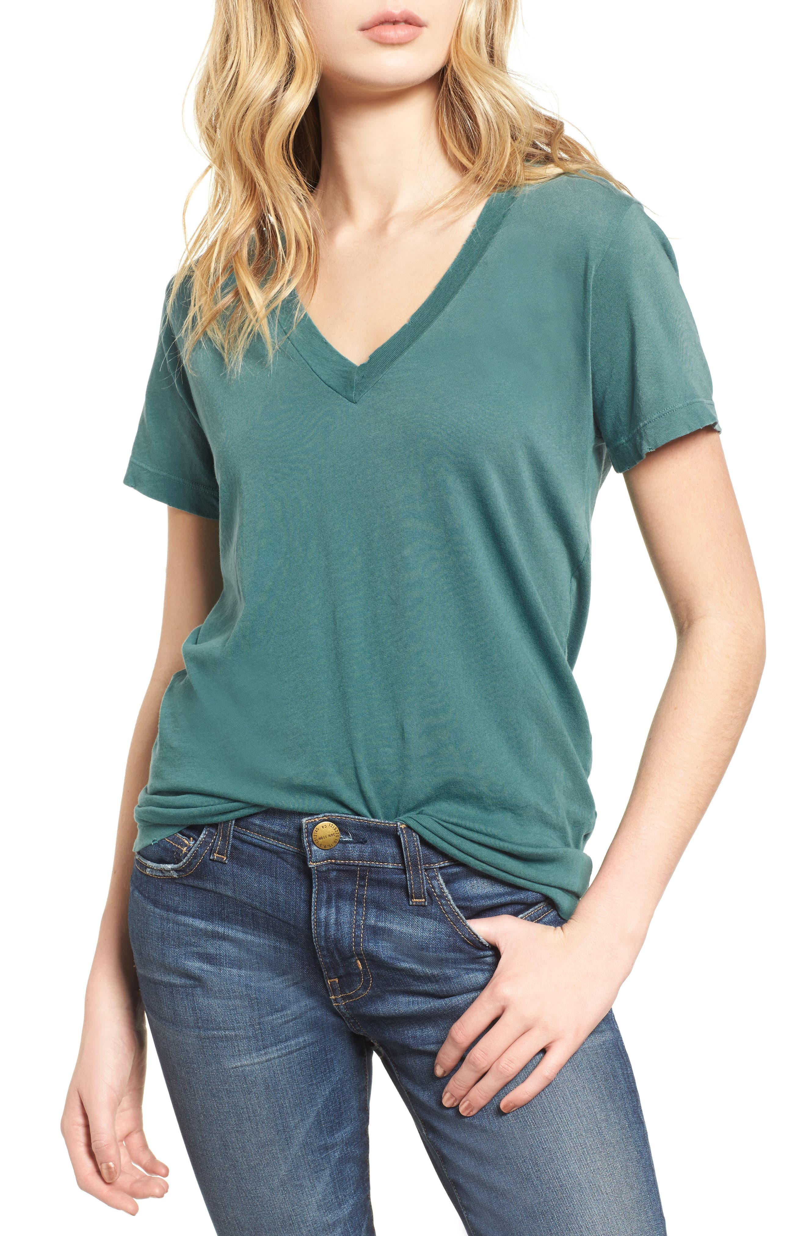 The V-Neck Tee,                             Main thumbnail 1, color,                             484