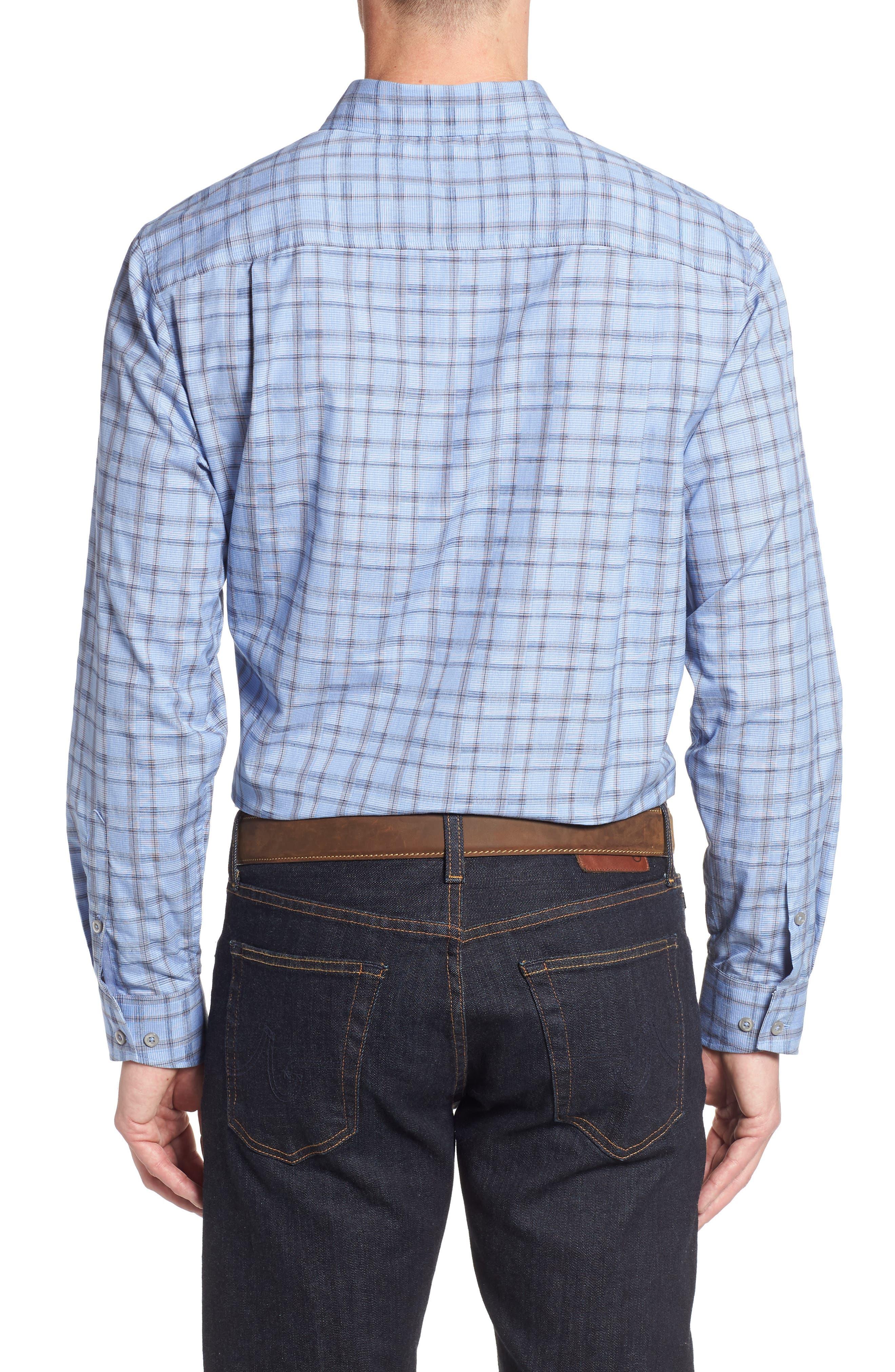 Caturra Check Sport Shirt,                             Alternate thumbnail 2, color,                             BLUE JEAN