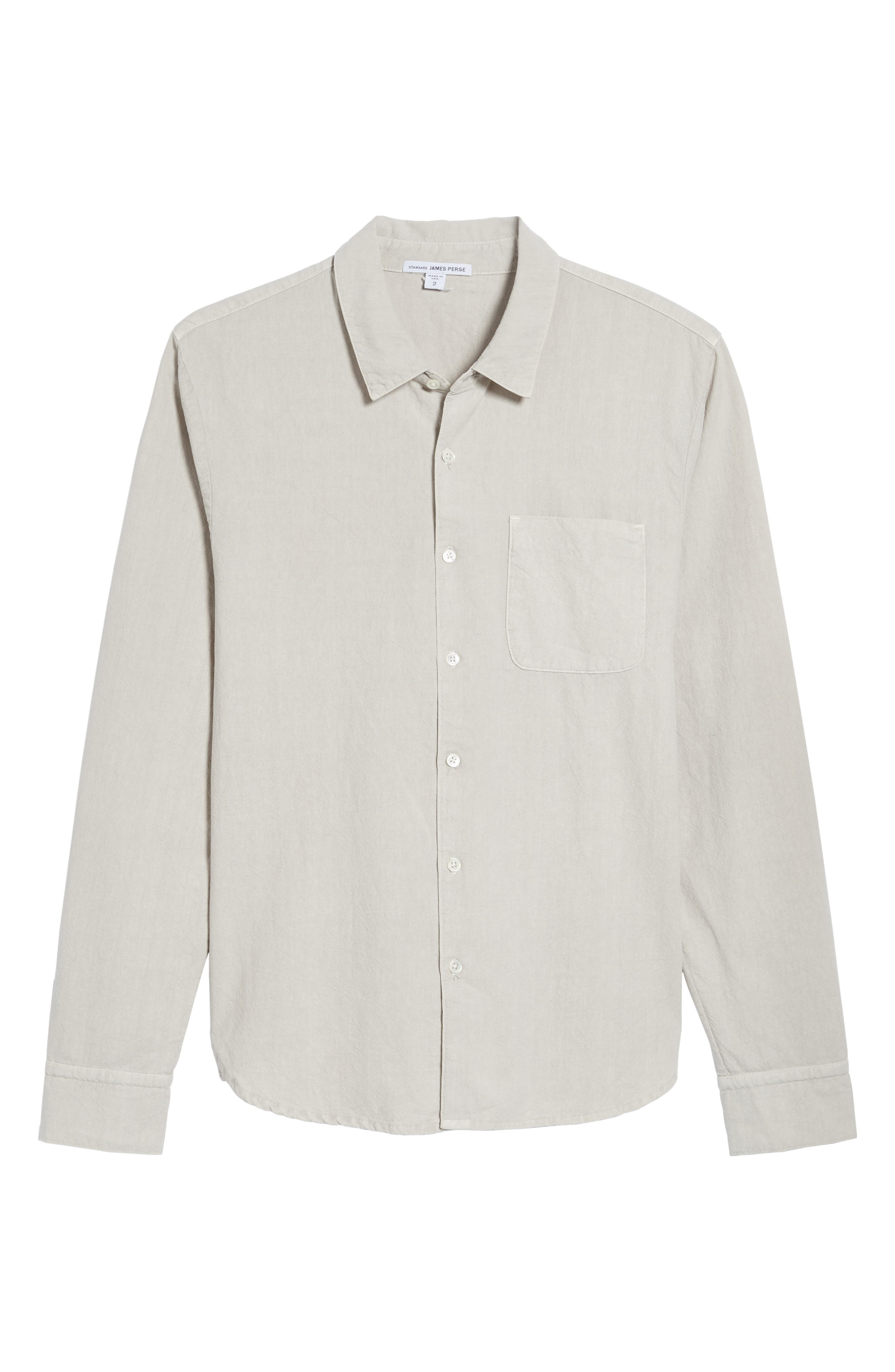 Slim Cotton Sport Shirt,                             Alternate thumbnail 6, color,                             058