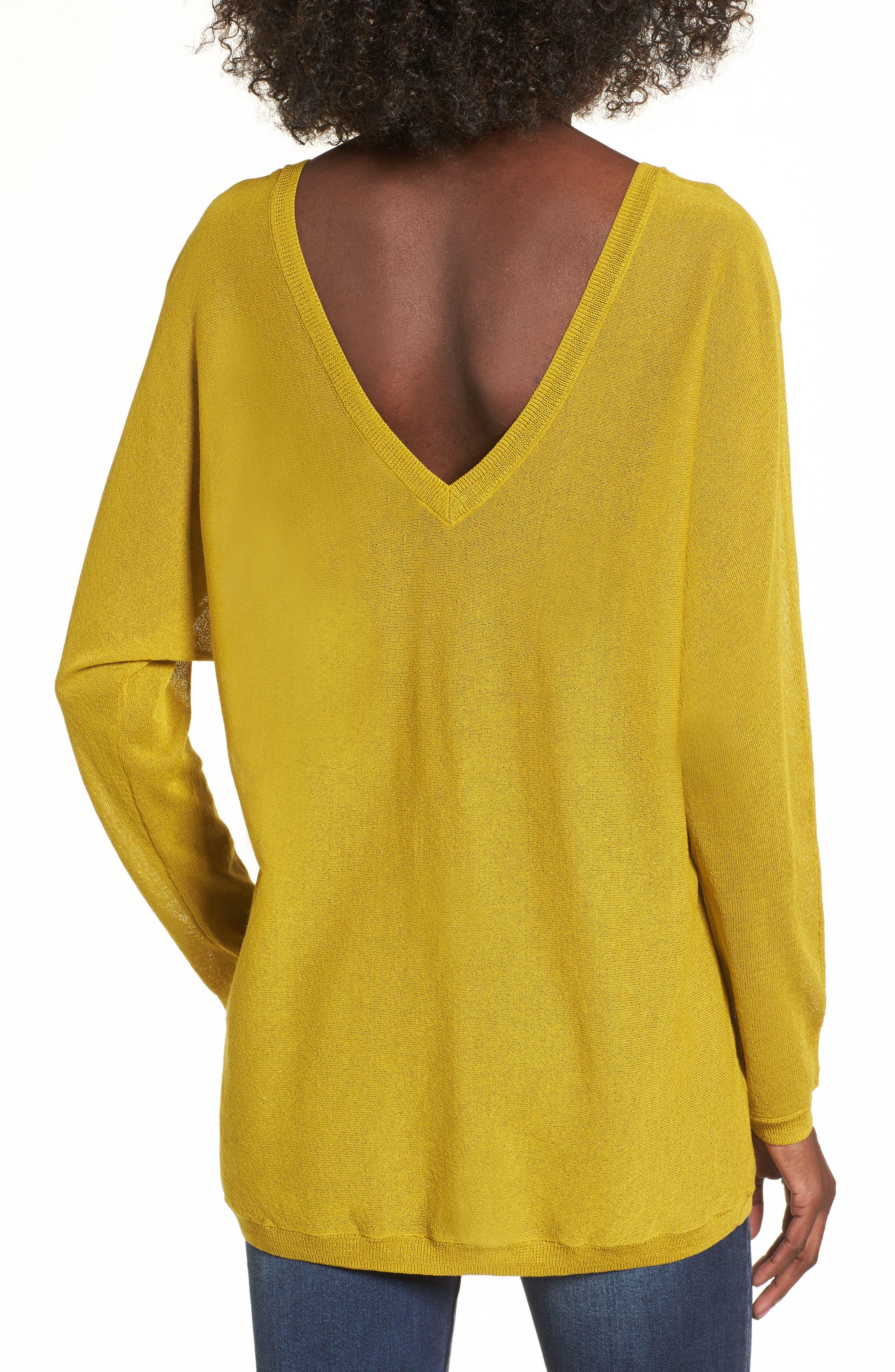 Double V-Neck Sweater,                             Alternate thumbnail 5, color,