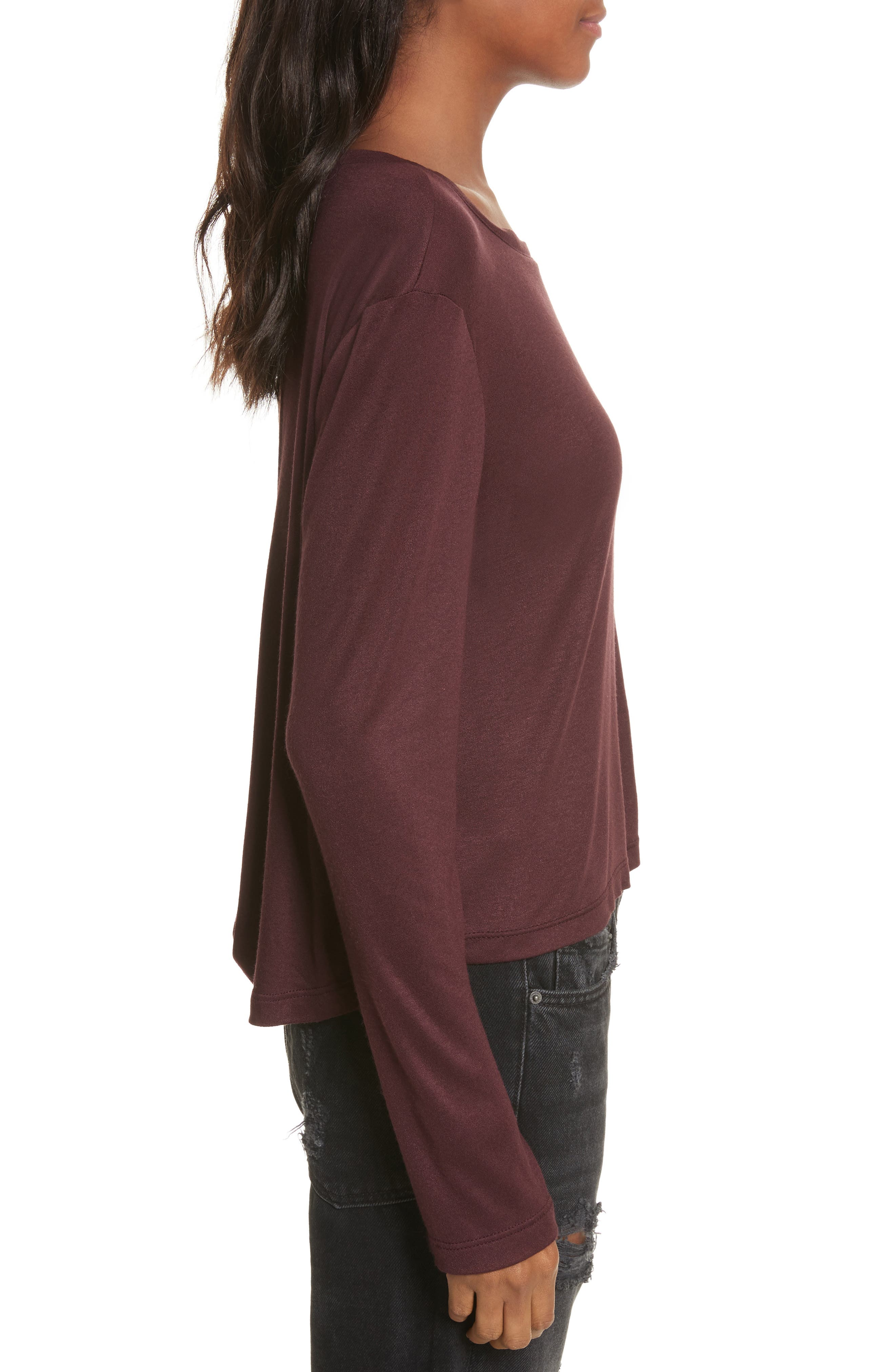Willow Shine Jersey Open Back Top,                             Alternate thumbnail 6, color,