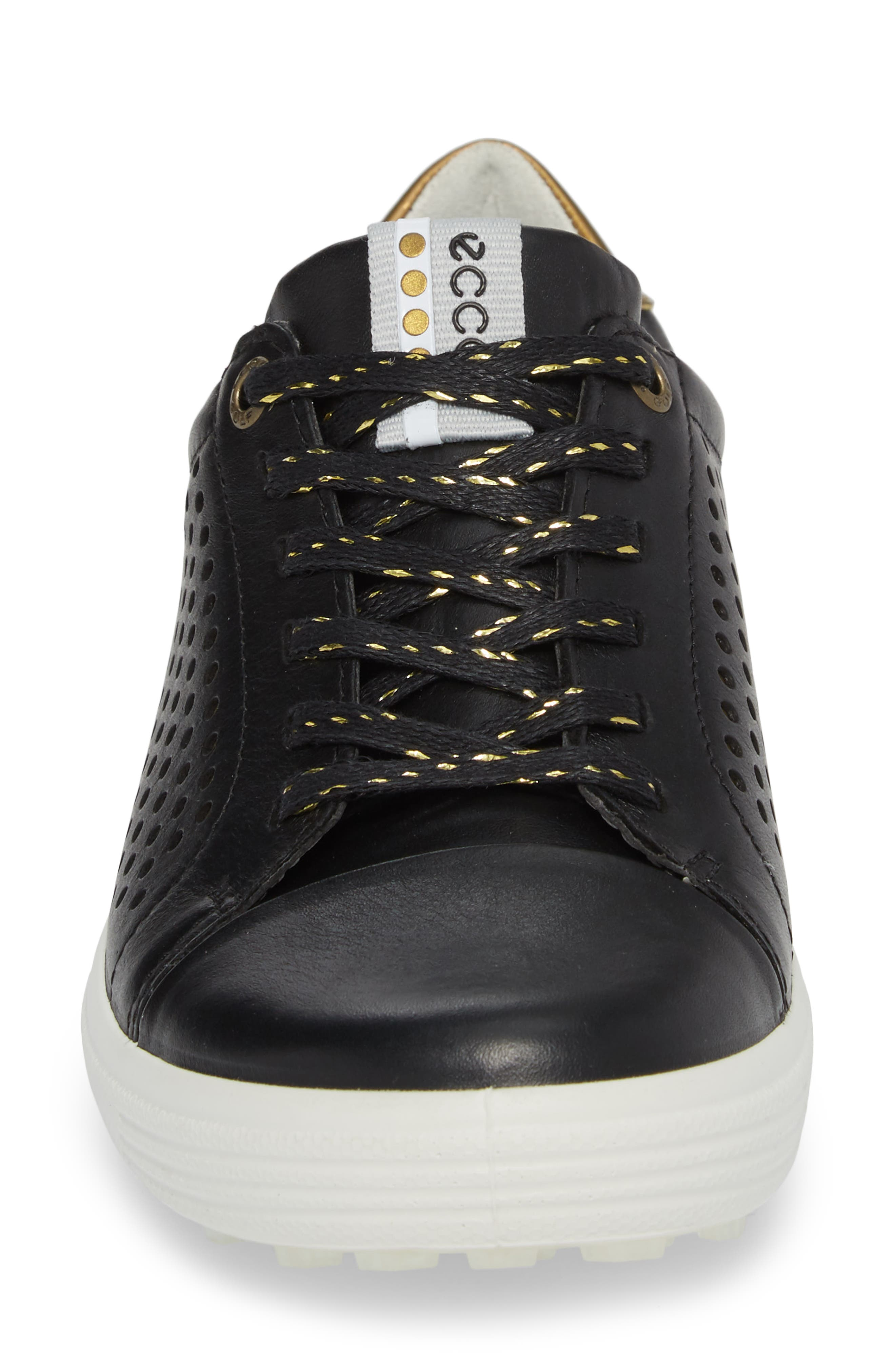 Casual Hybrid Water-Repellent Golf Shoe,                             Alternate thumbnail 4, color,                             BLACK/ BLACK LEATHER