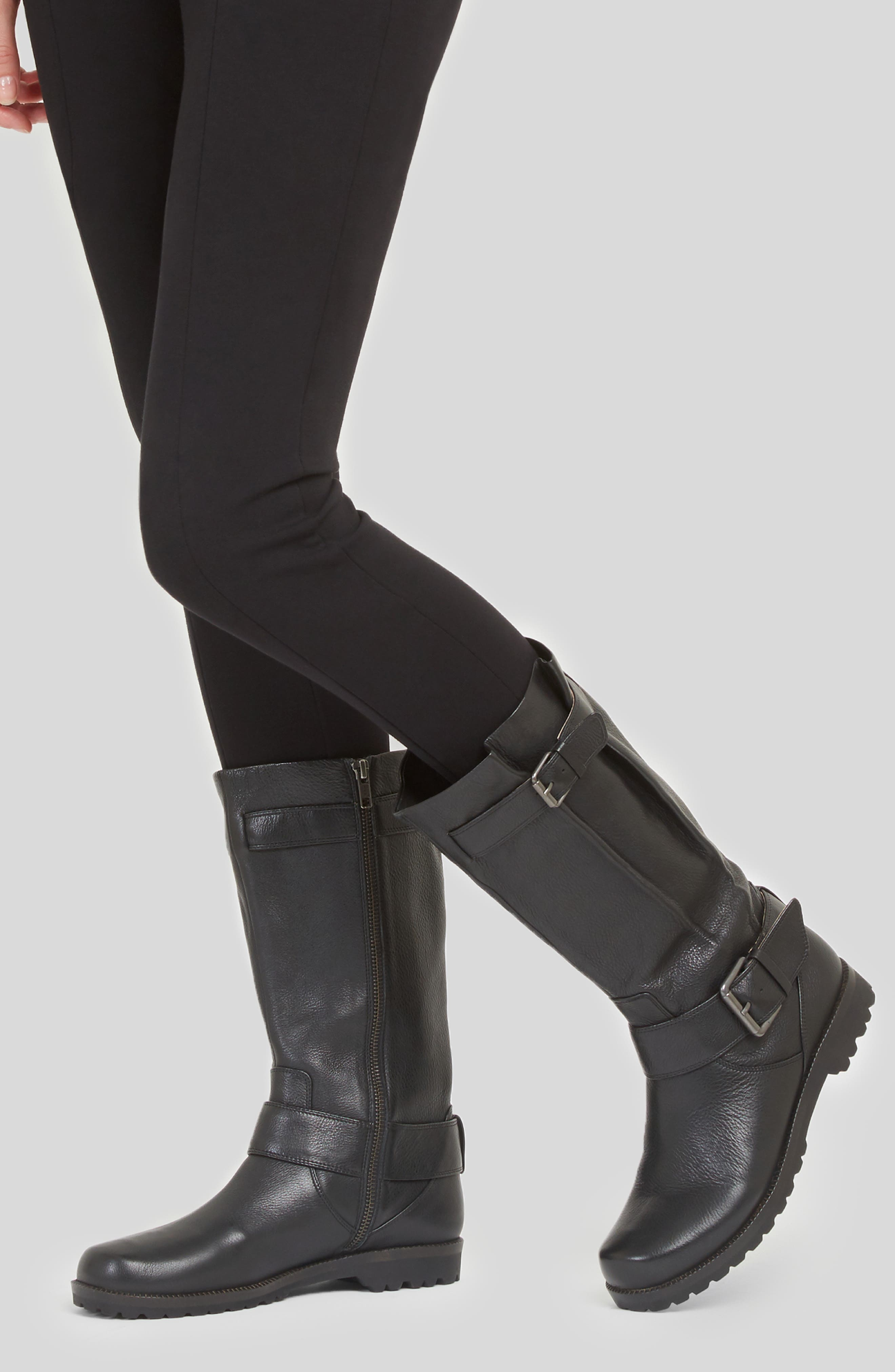 'Buckled Up' Boot,                             Alternate thumbnail 7, color,                             BLACK