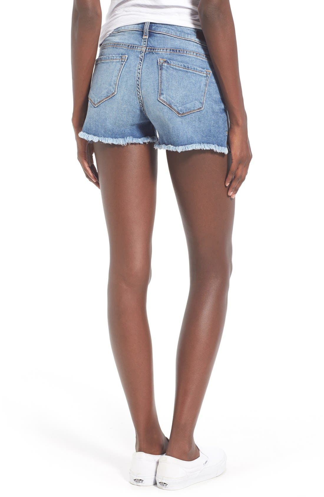 Distressed Cutoff Denim Shorts,                             Alternate thumbnail 2, color,                             994