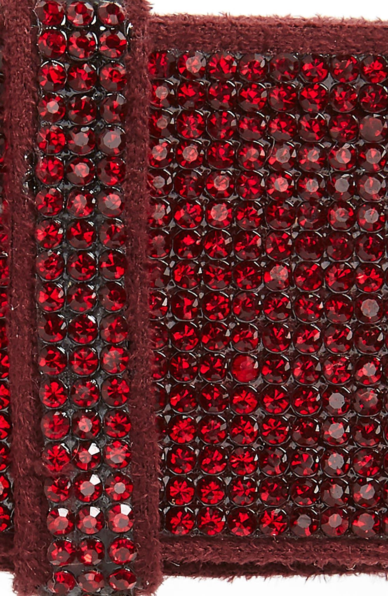Manière Sparkle Swarovski Crystal Barrette,                             Alternate thumbnail 3, color,                             RED