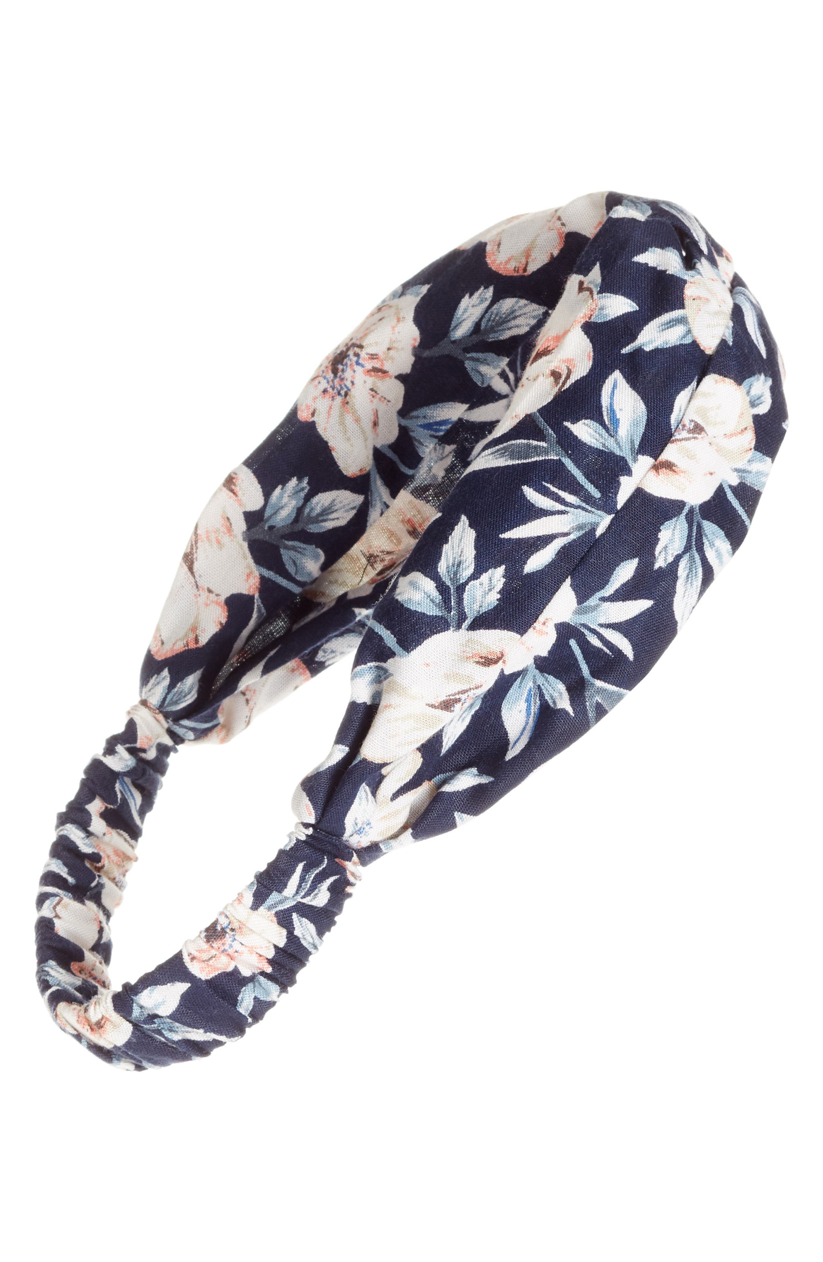 Floral Print Head Wrap,                             Main thumbnail 1, color,