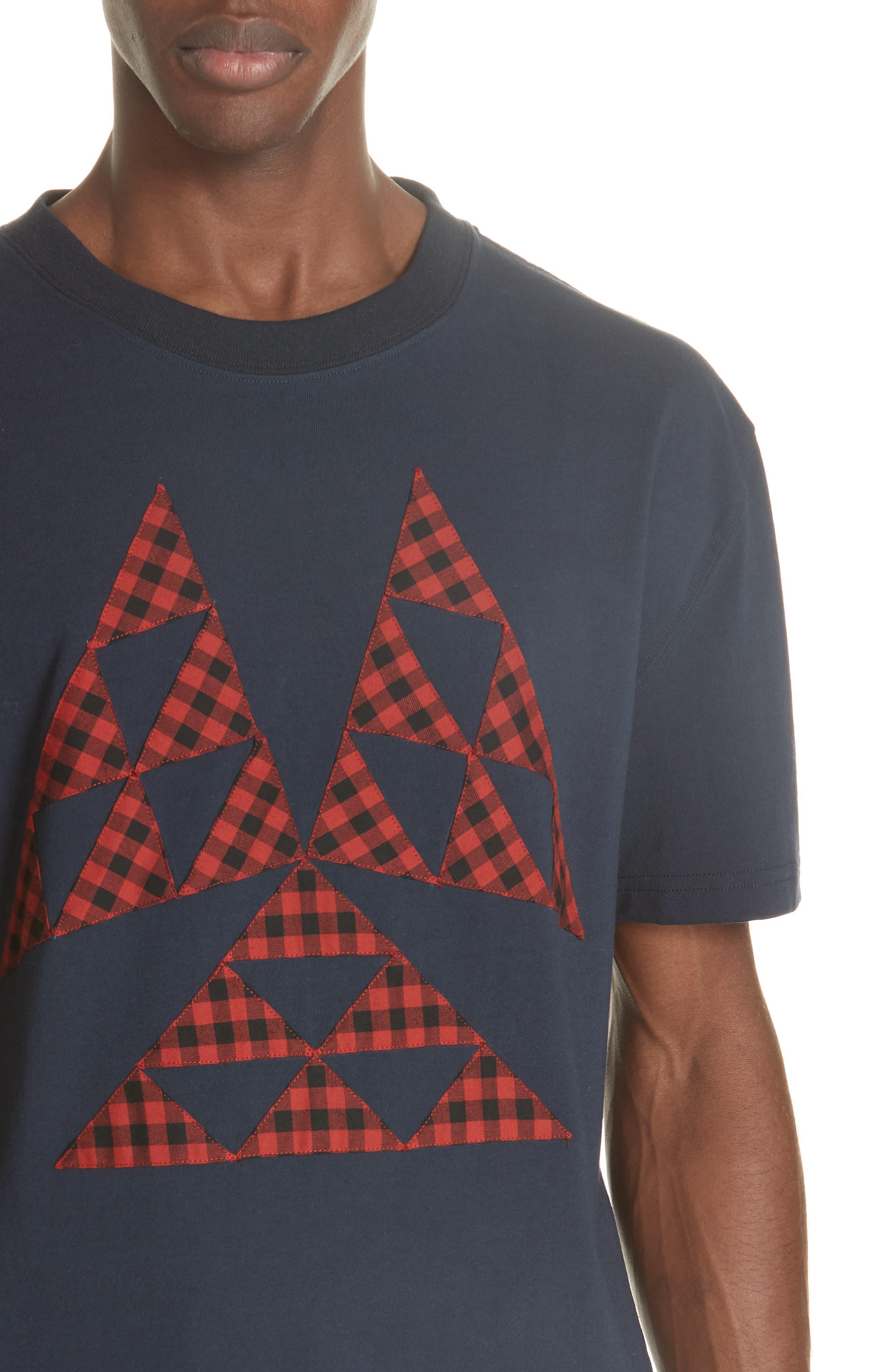 Patchwork T-Shirt,                             Alternate thumbnail 4, color,                             NAVY