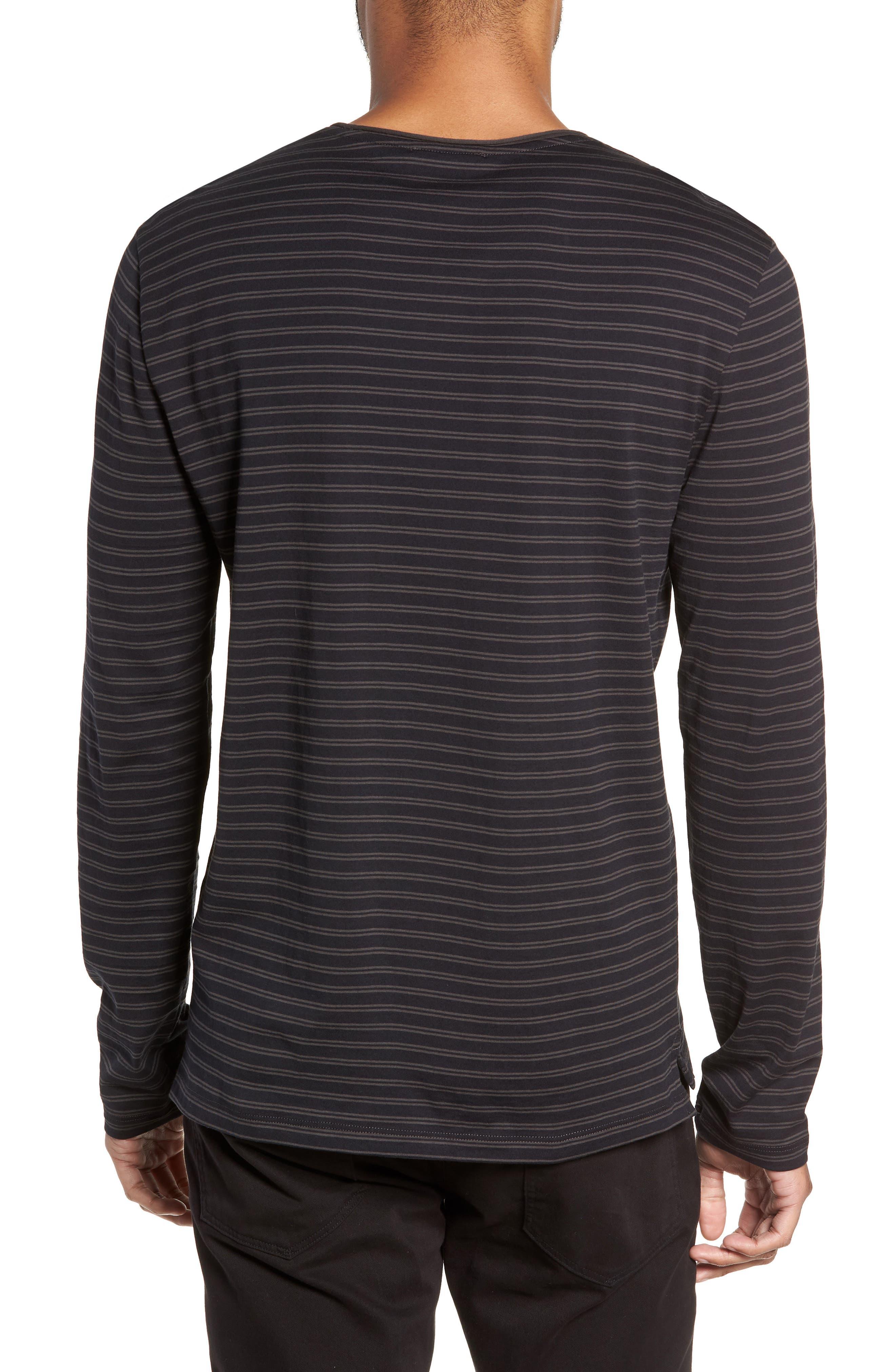 Double Stripe Long Sleeve T-Shirt,                             Alternate thumbnail 2, color,                             400