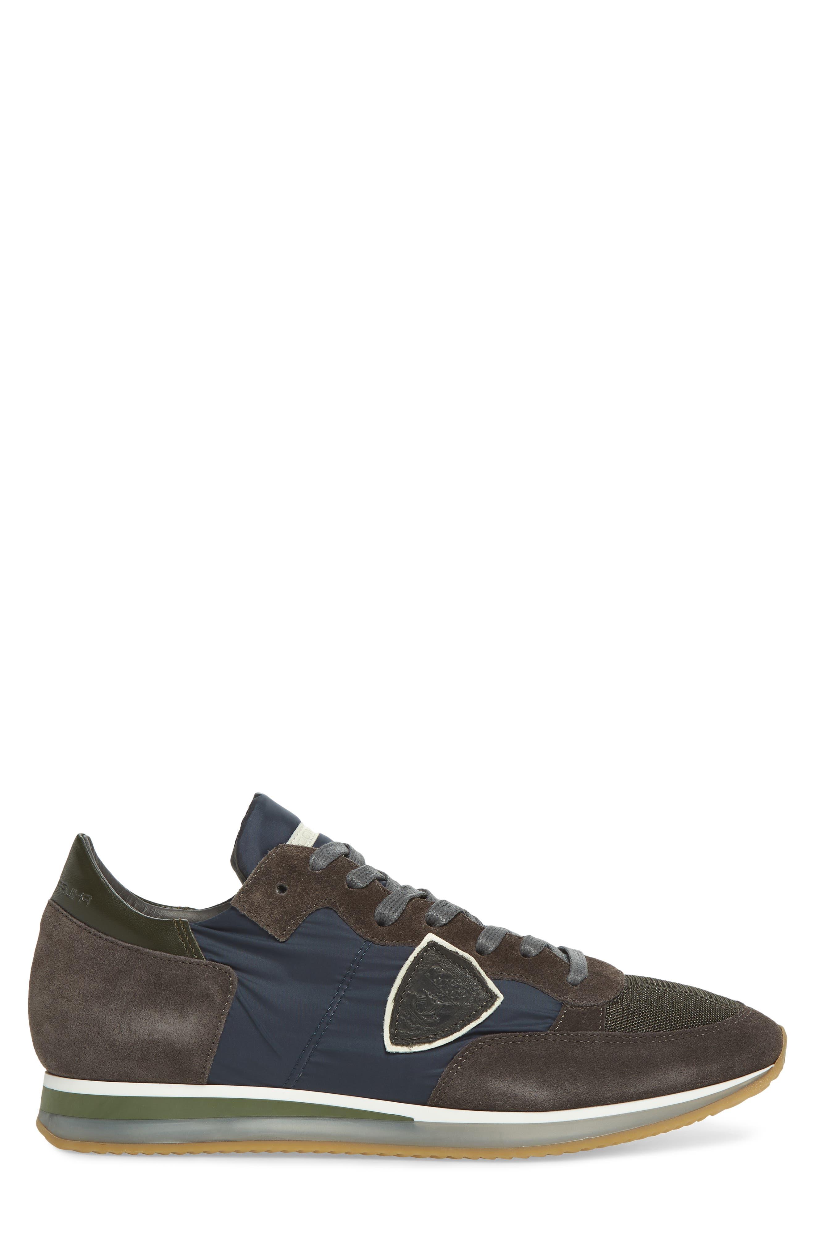 Tropez Low Top Sneaker,                             Alternate thumbnail 3, color,                             BLUE/ GREY