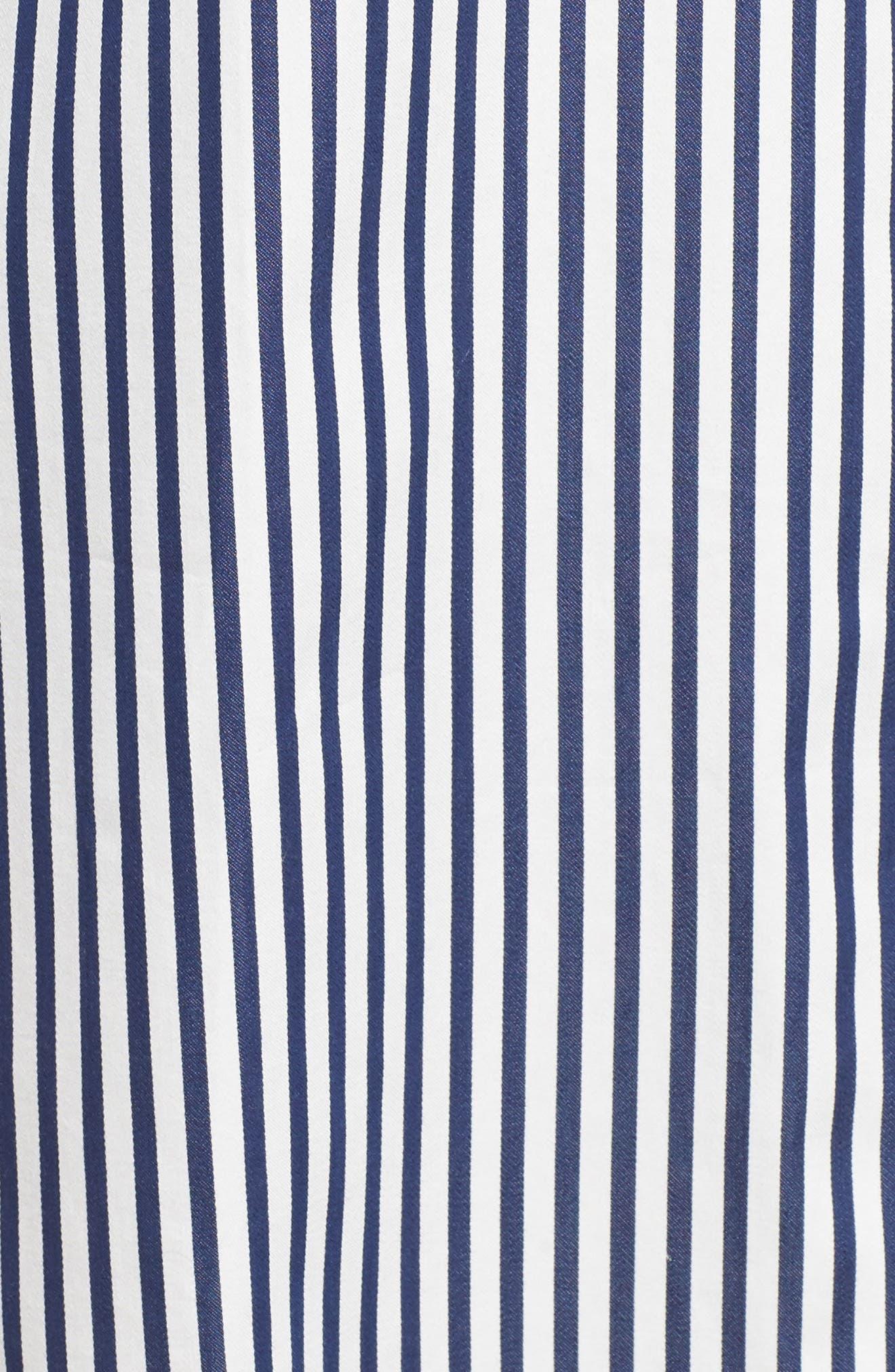 stripe sleep shirt,                             Alternate thumbnail 5, color,                             414
