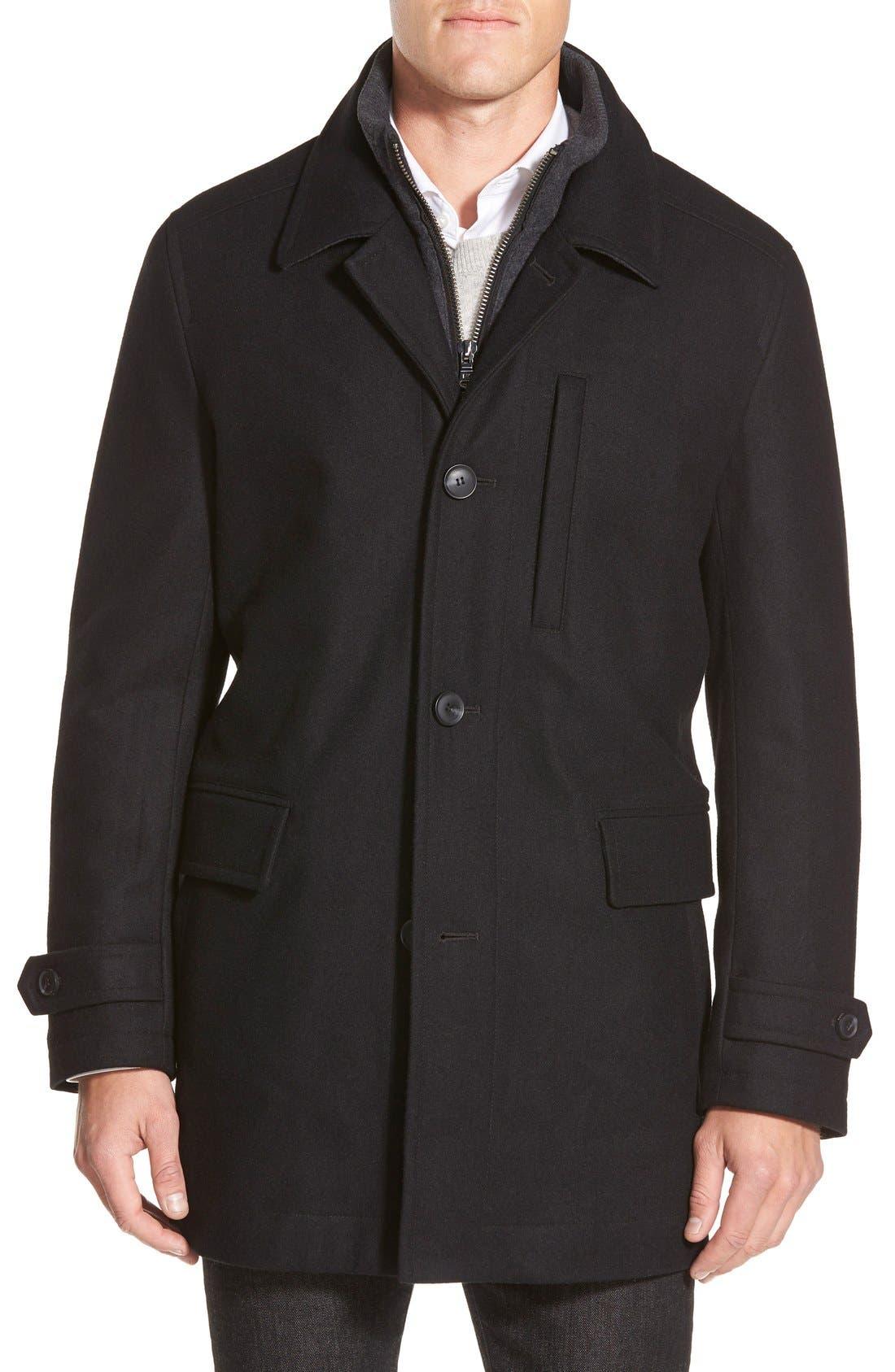 MICHAEL KORS Car Coat, Main, color, 001
