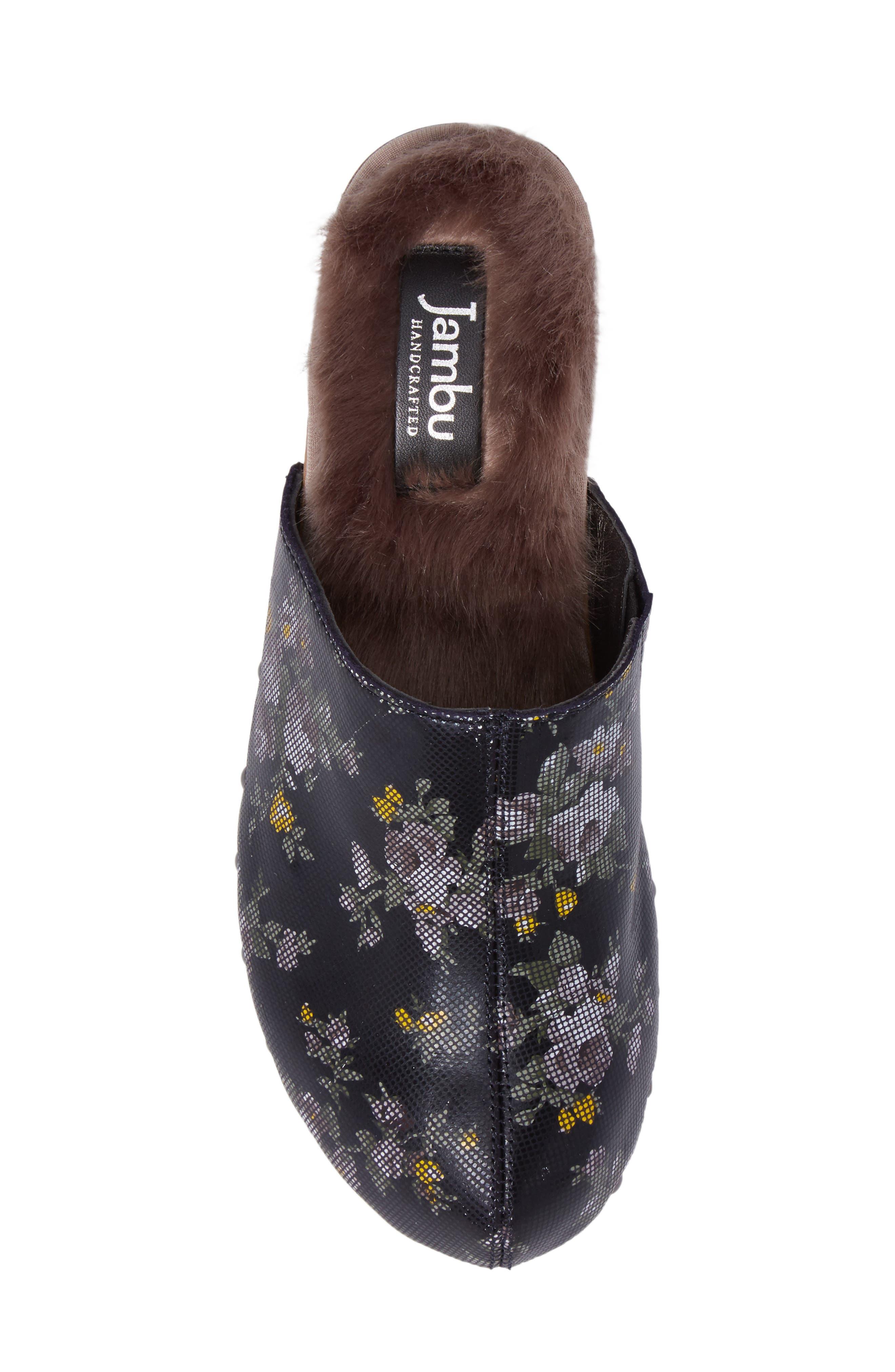 Monaco Faux Fur Lined Mule,                             Alternate thumbnail 5, color,                             410