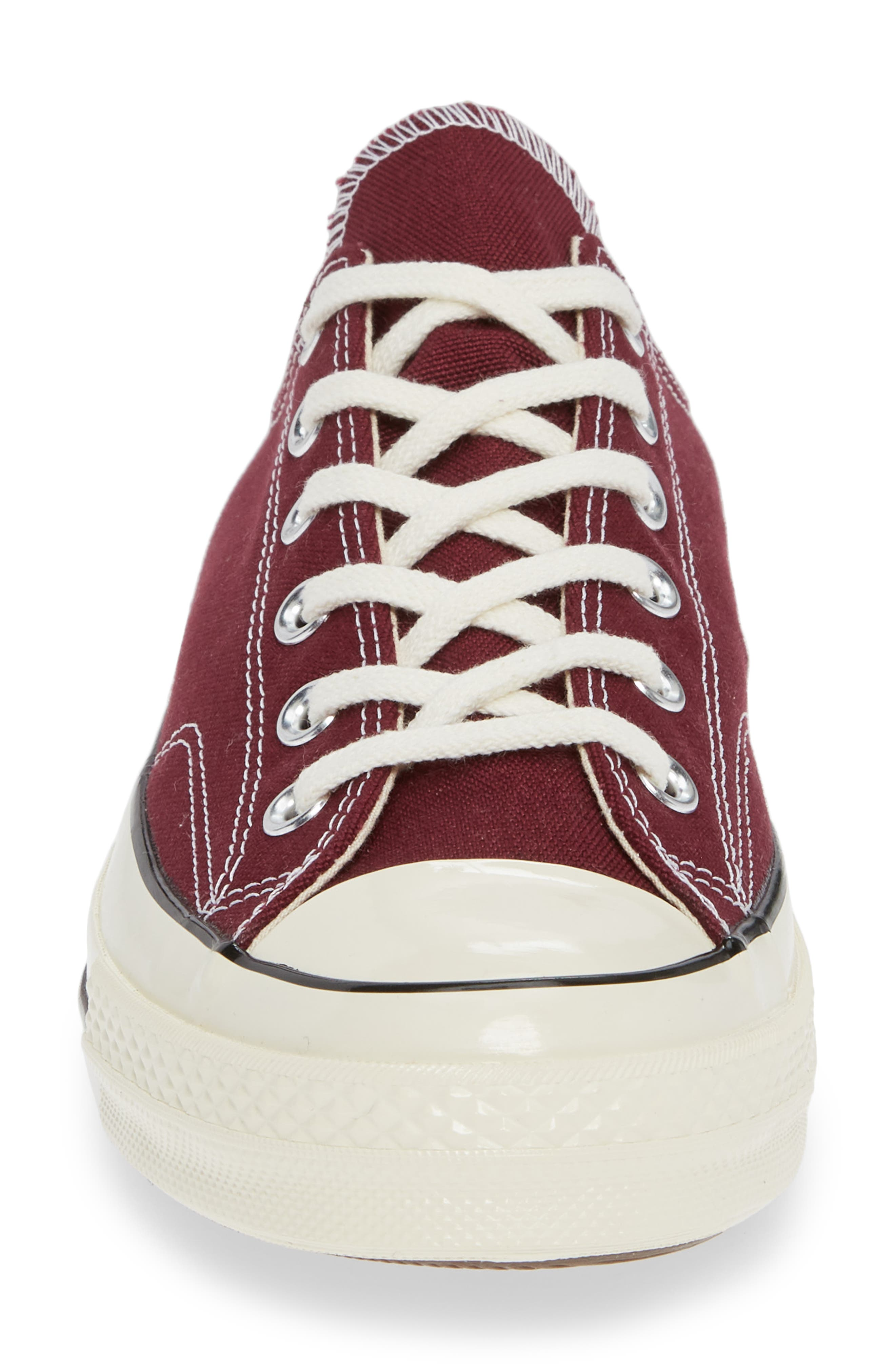 Chuck Taylor<sup>®</sup> All Star<sup>®</sup> 70 Low Top Sneaker,                             Alternate thumbnail 4, color,                             BURGUNDY