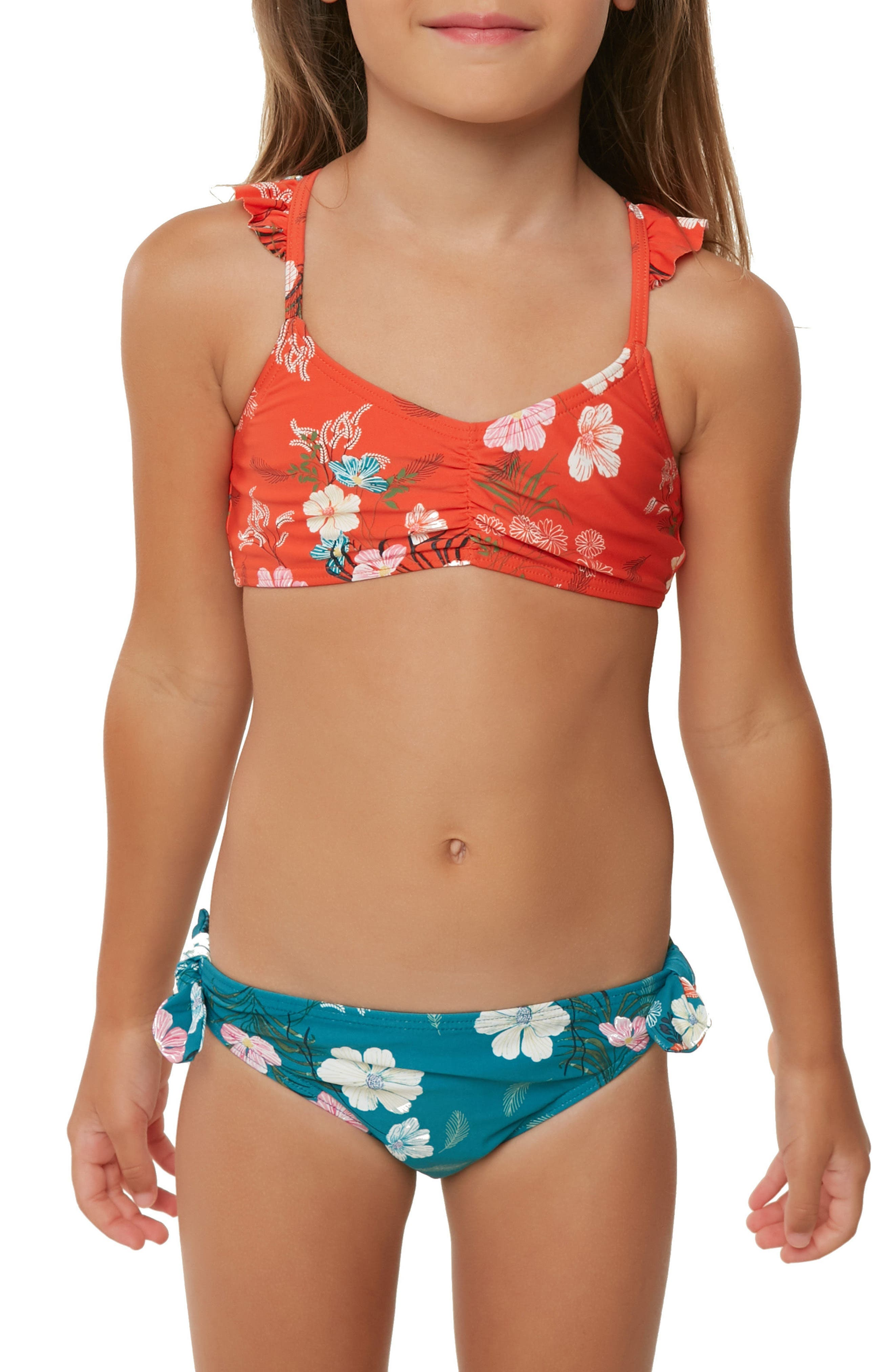 Lucy Floral Two-Piece Swimsuit,                             Alternate thumbnail 2, color,                             600