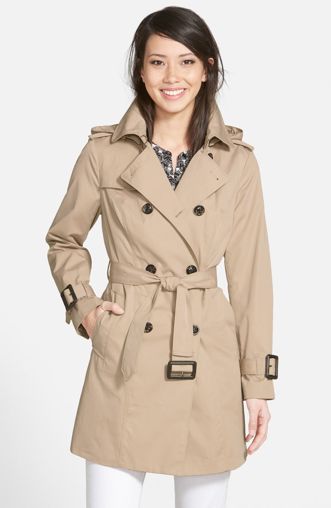 Heritage Trench Coat with Detachable Liner,                             Main thumbnail 1, color,                             STONE