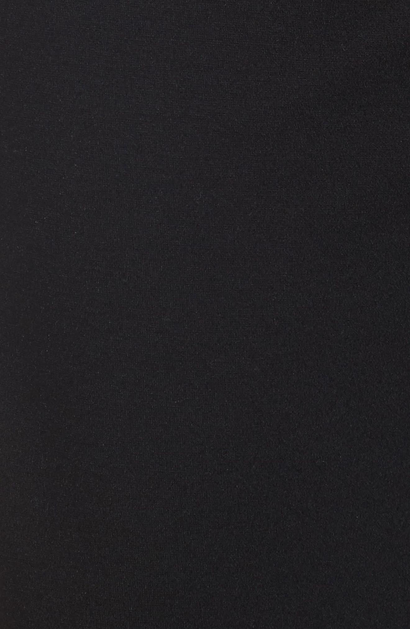 Faux Leather Trim Culottes,                             Alternate thumbnail 5, color,                             001
