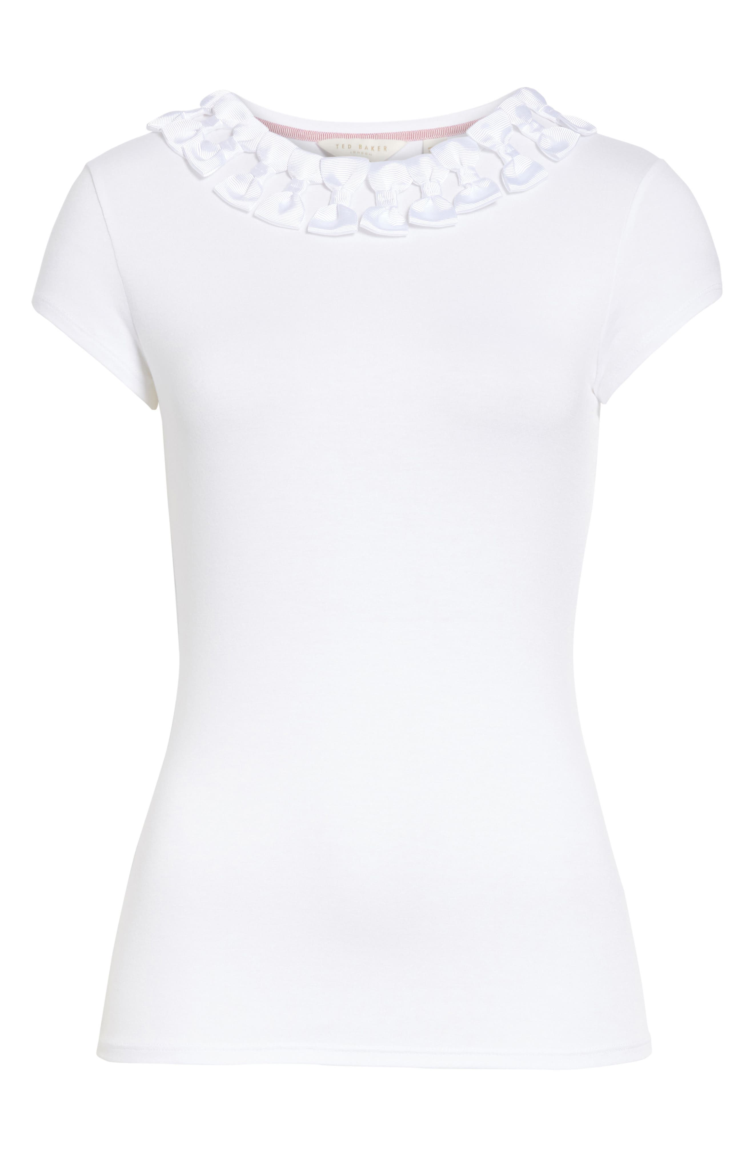 Ted Baker Bow Trim Tee,                             Alternate thumbnail 11, color,
